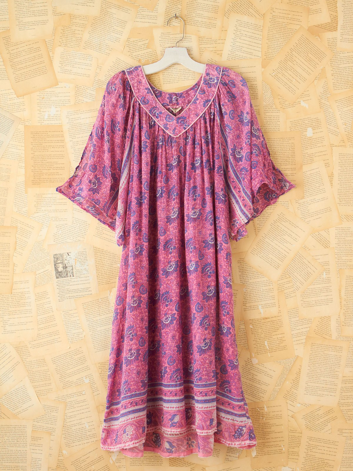 Vintage Deep V-Neck Dress