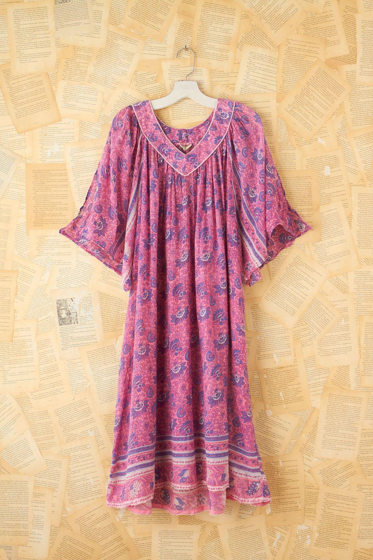 Vintage Deep V-Neck Dress