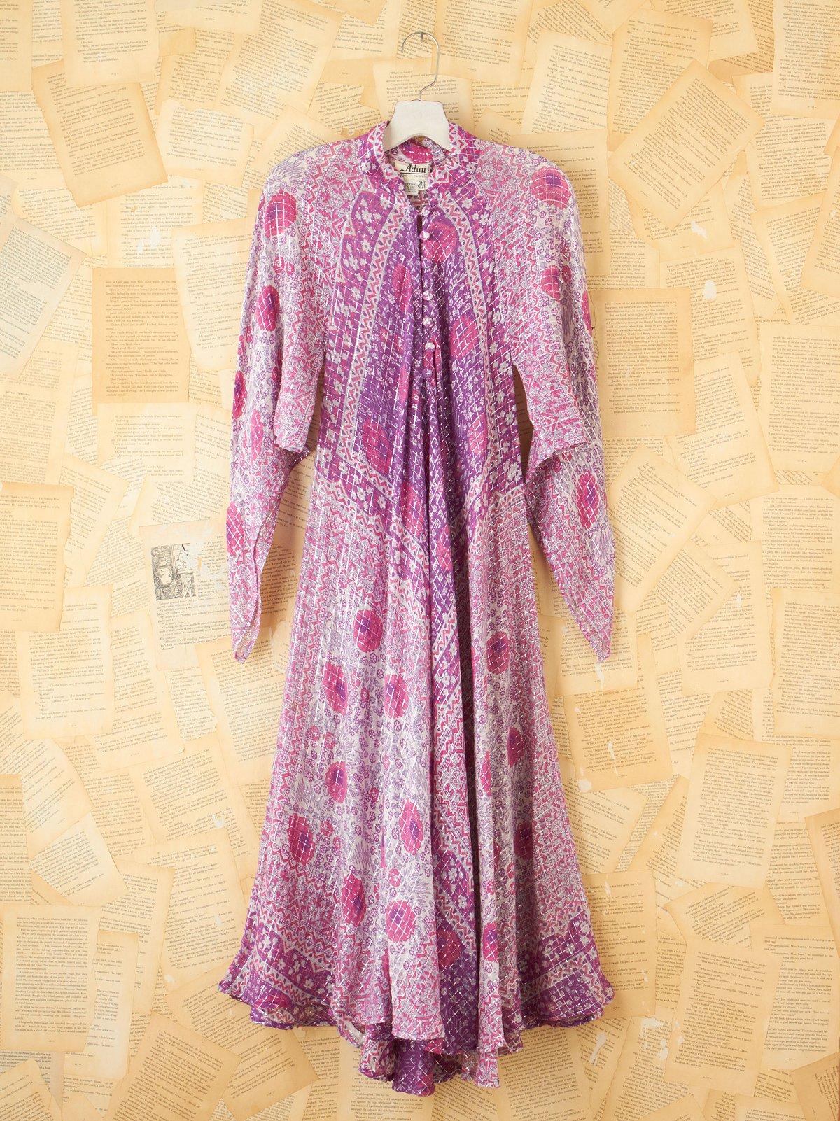 Vintage Floral Buttodown Maxi Dress