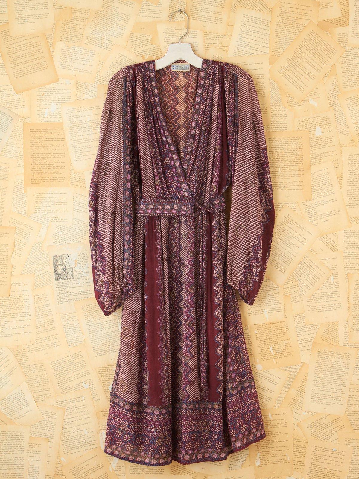 Vintage Floral and Dot Motif Dress