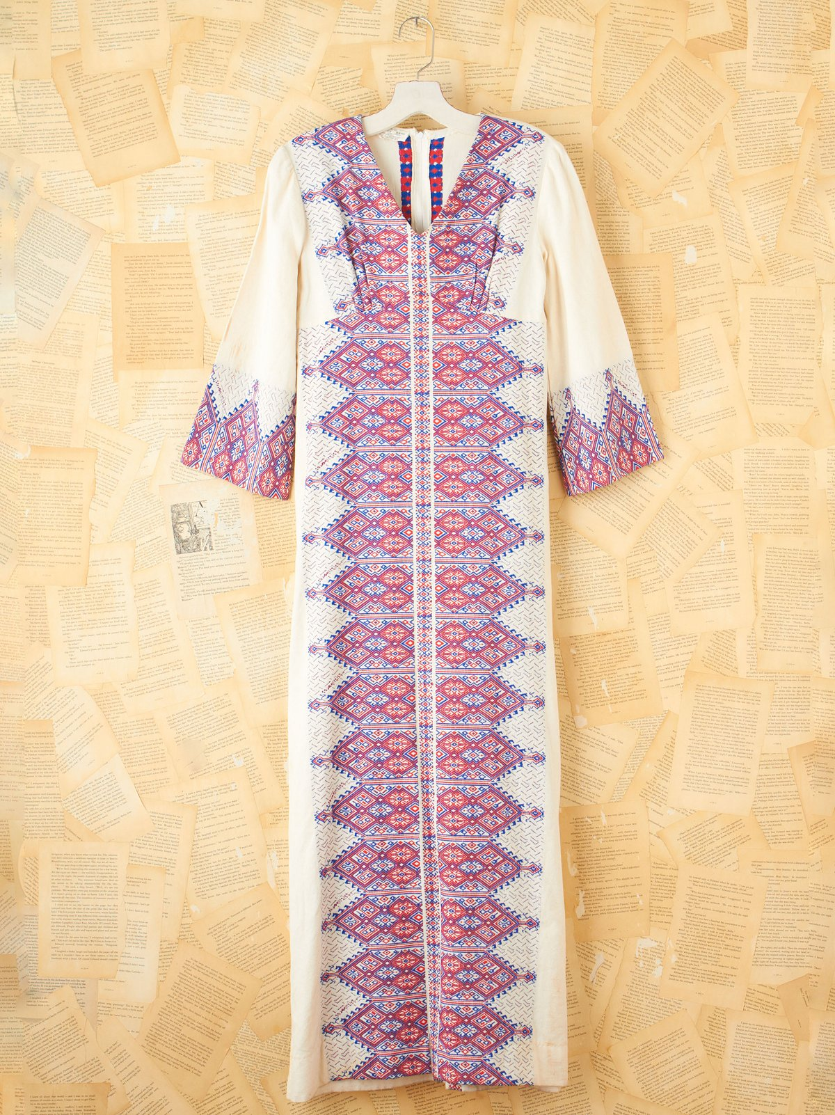 Vintage Long Embroidered Tunic Dress