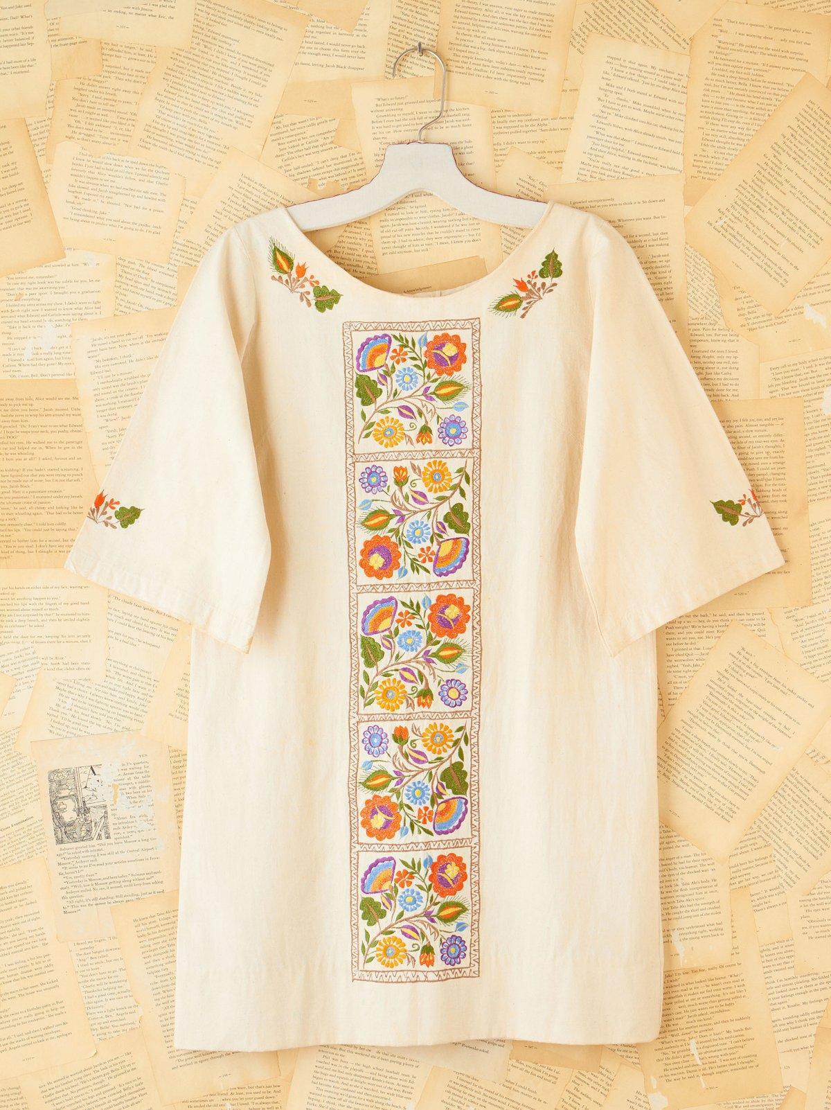 Vintage Linen Tunic Dress