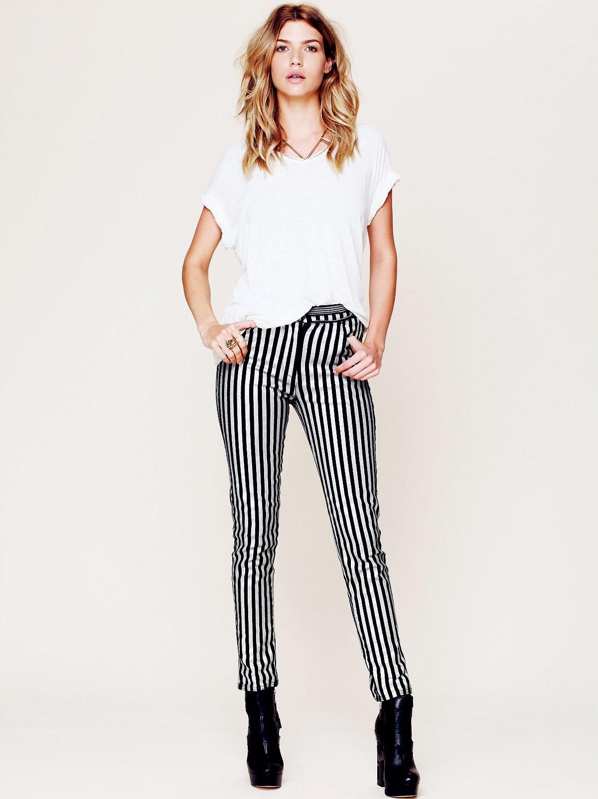 Stripe Silver Skinny