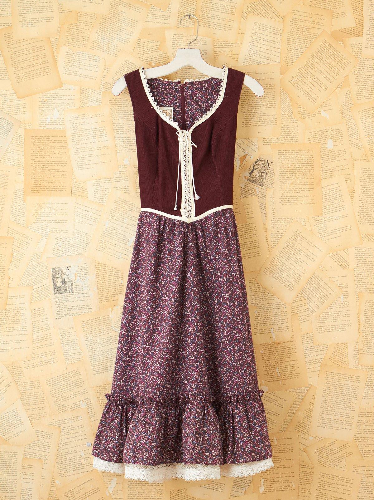 Vintage Maroon Gunne Sax Dress