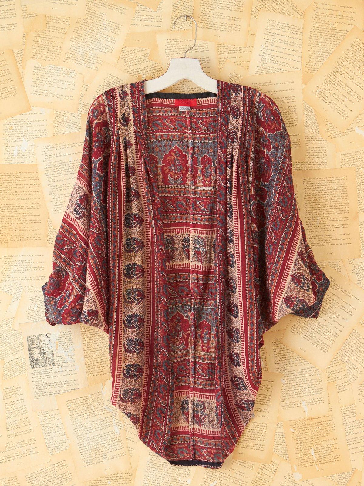 Vintage Patterned Circle Cardigan Shawl