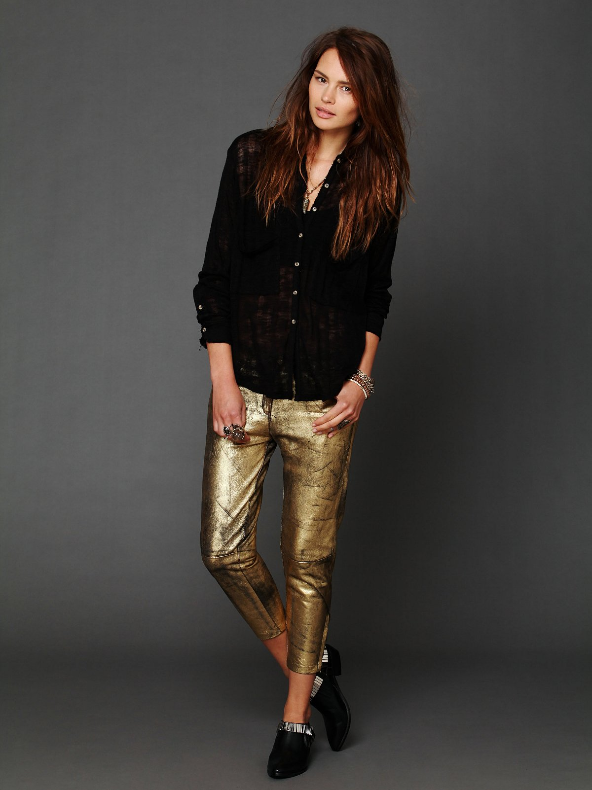 Fear and Loathing Gold Leather Pants