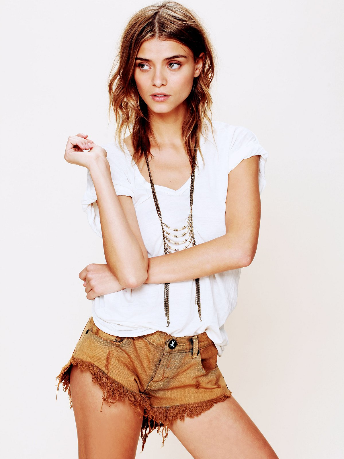 Bonitas Suede Pocket Cutoff