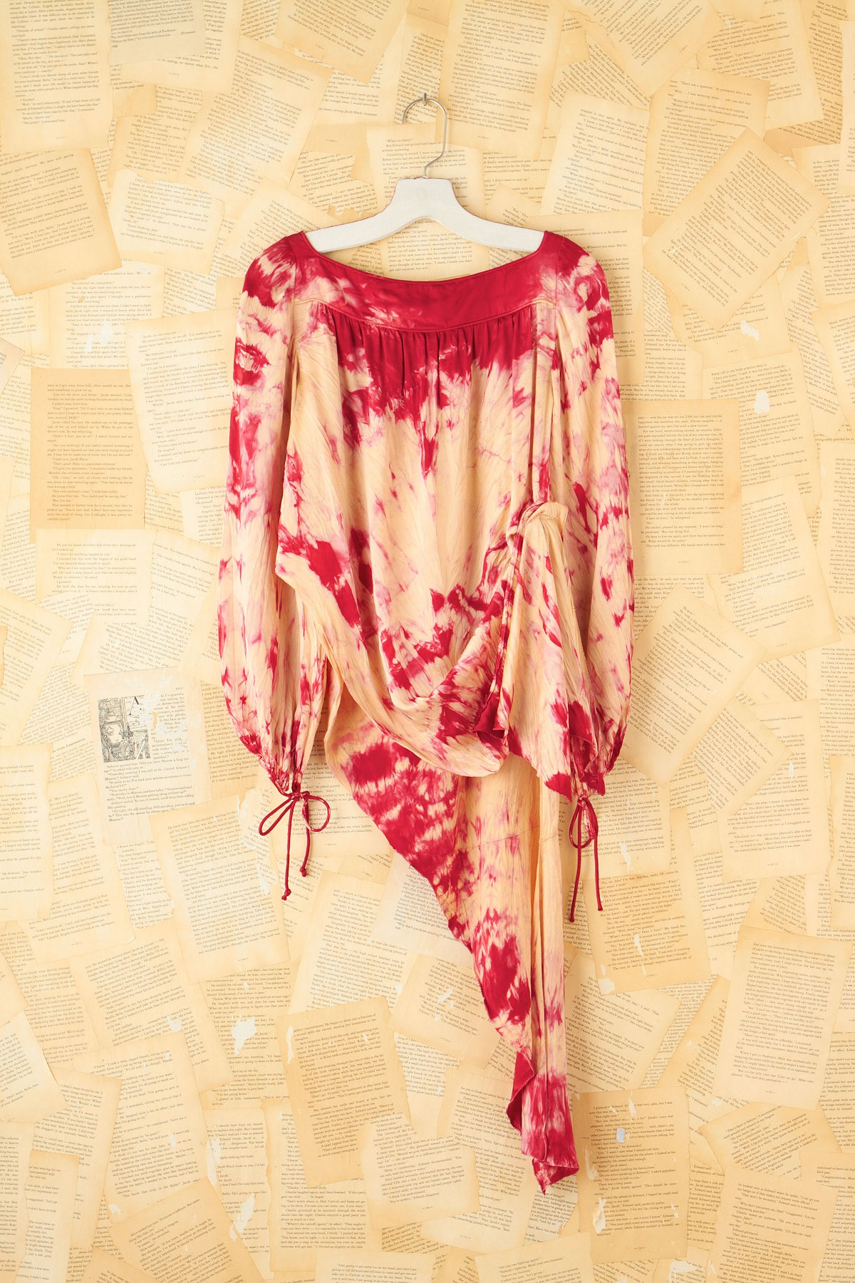 Pink and Cream Tie Dye Silk Top