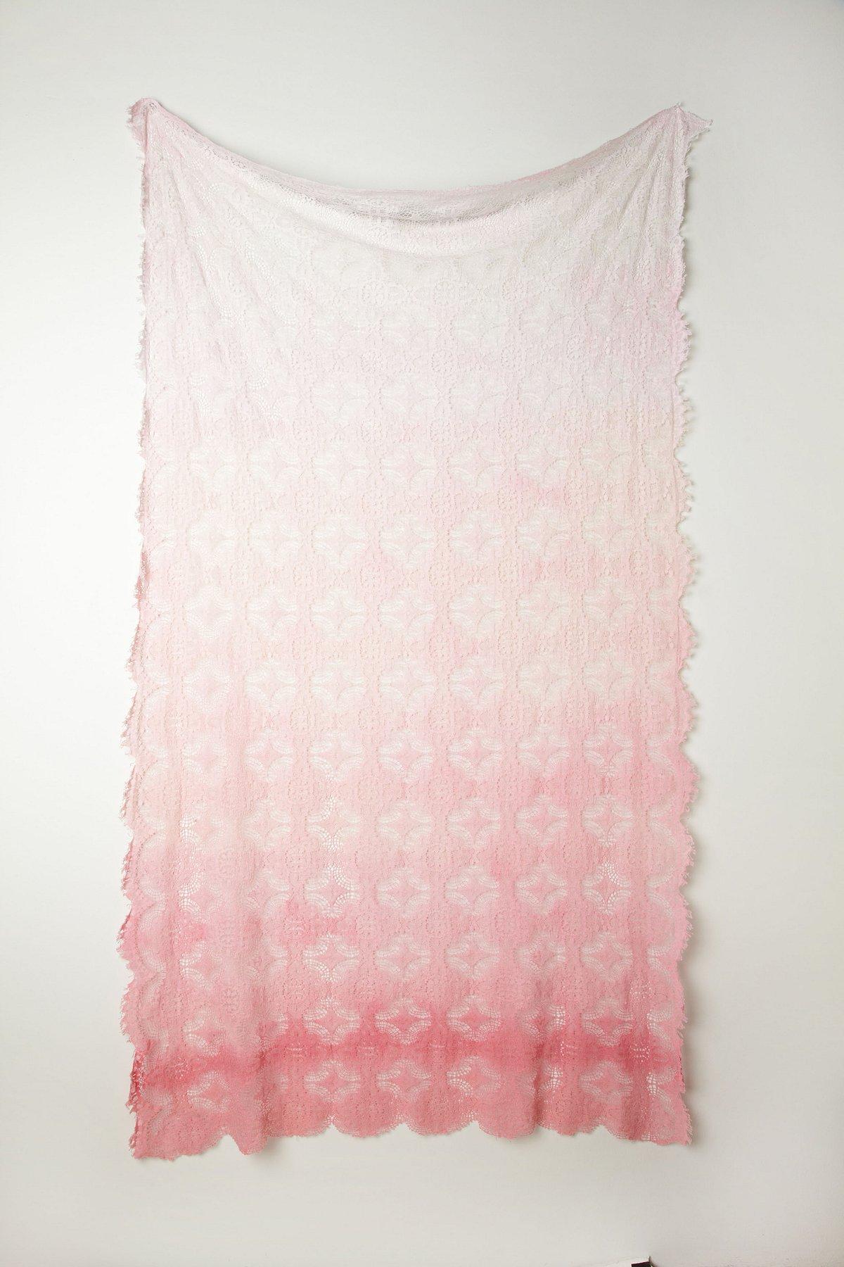 Dip Dye Lace Throw