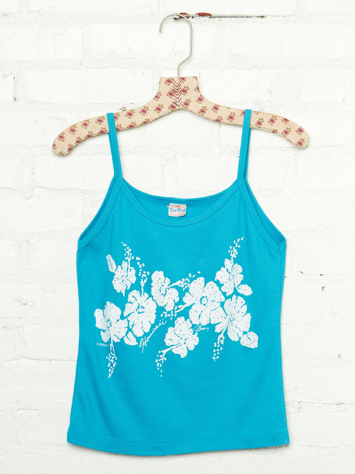 Vintage Hibiscus Floral Graphic Tank