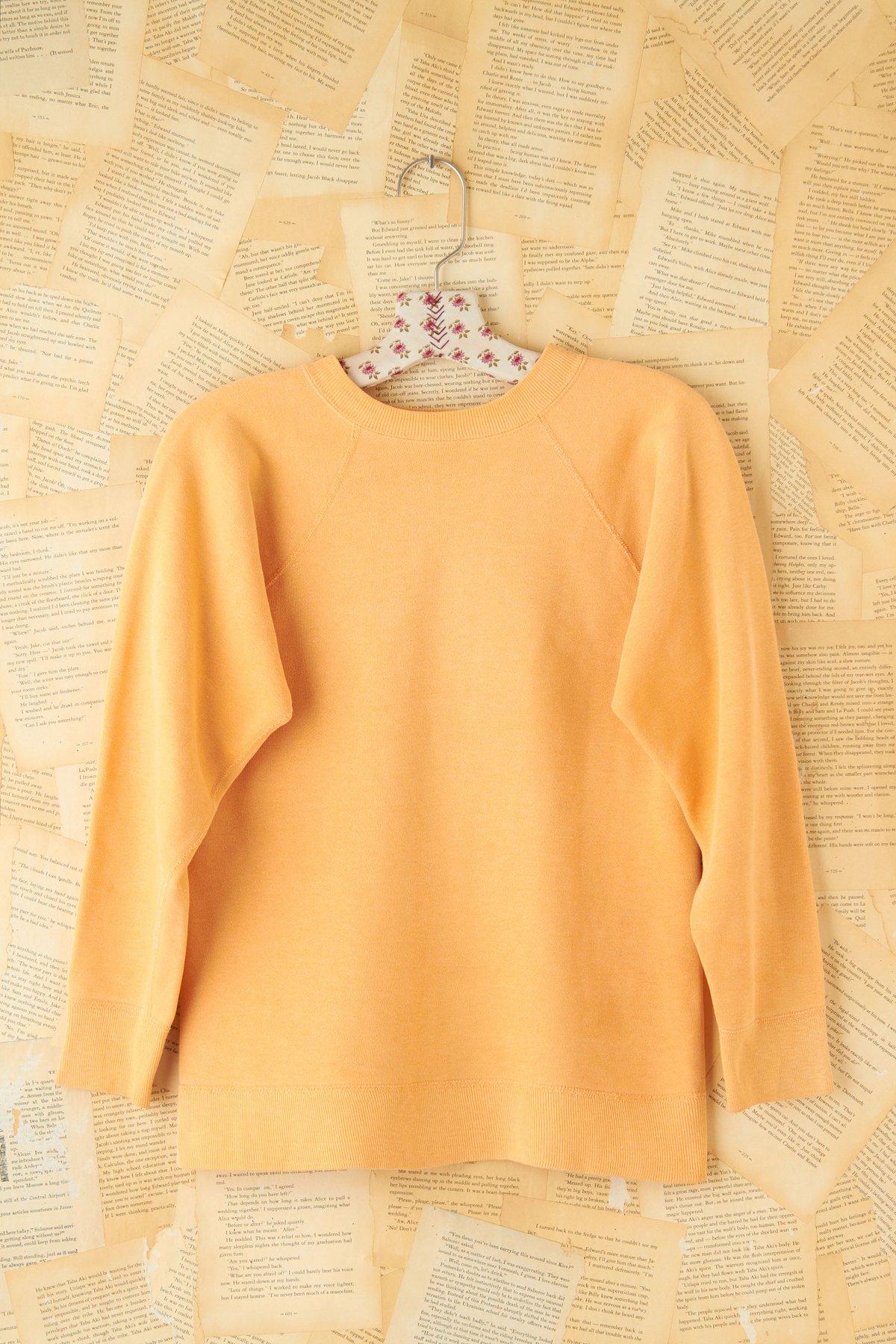 Vintage Orange Pullover Sweatshirt