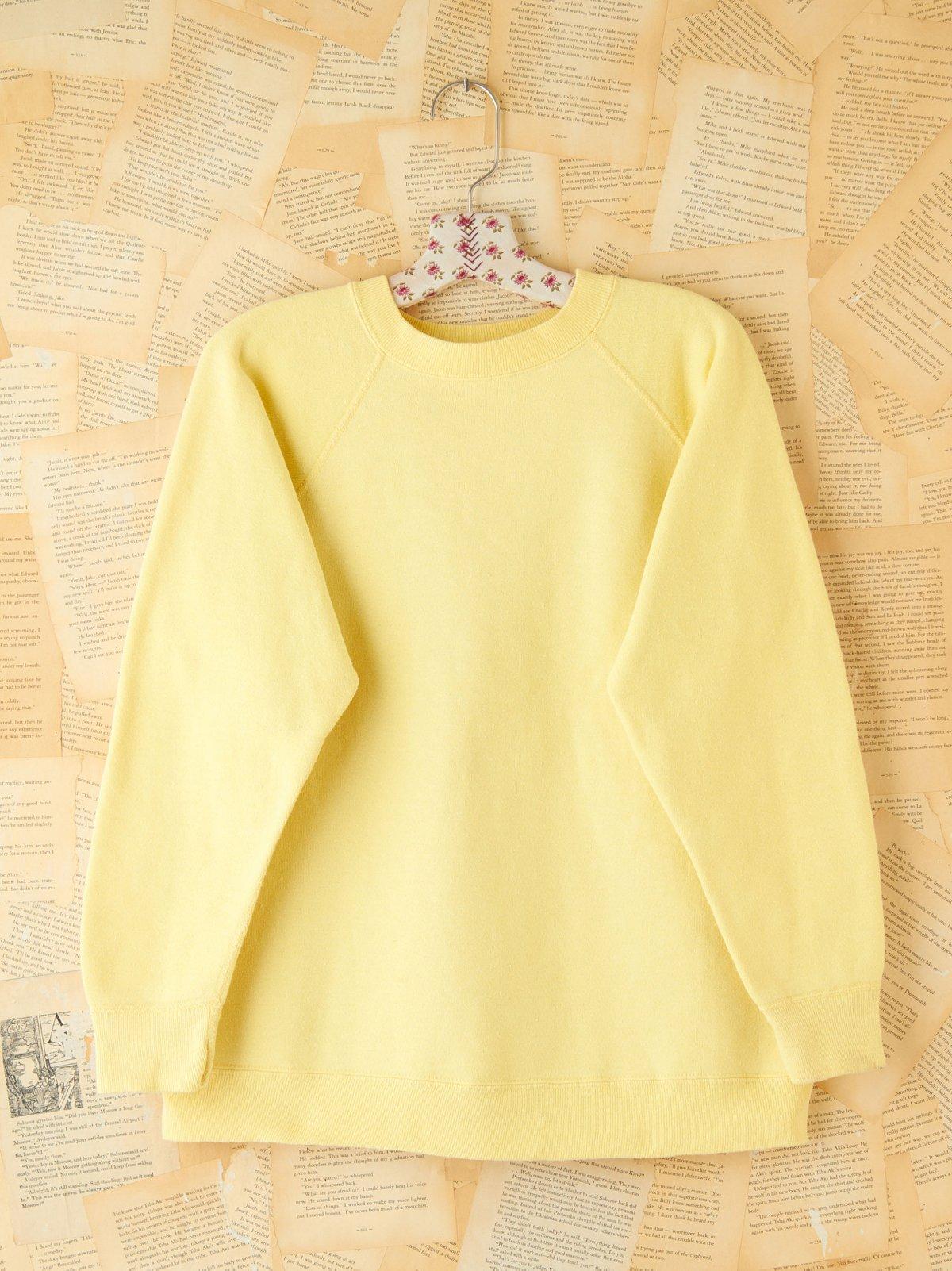 Vintage Yellow Pullover Sweatshirt