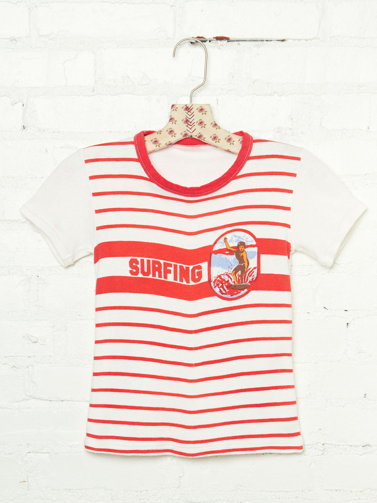 Vintage 1970s Surfing Striped Tee