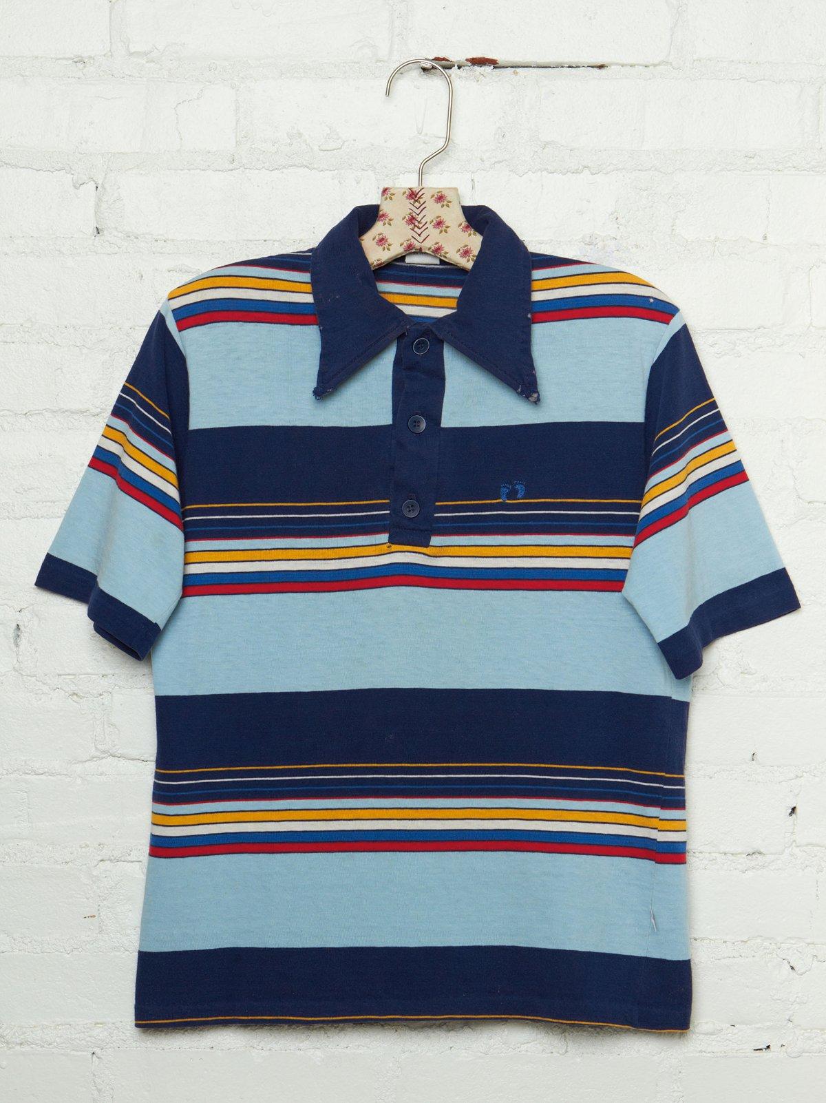Vintage 1970s Hang Ten Striped Polo Shirt