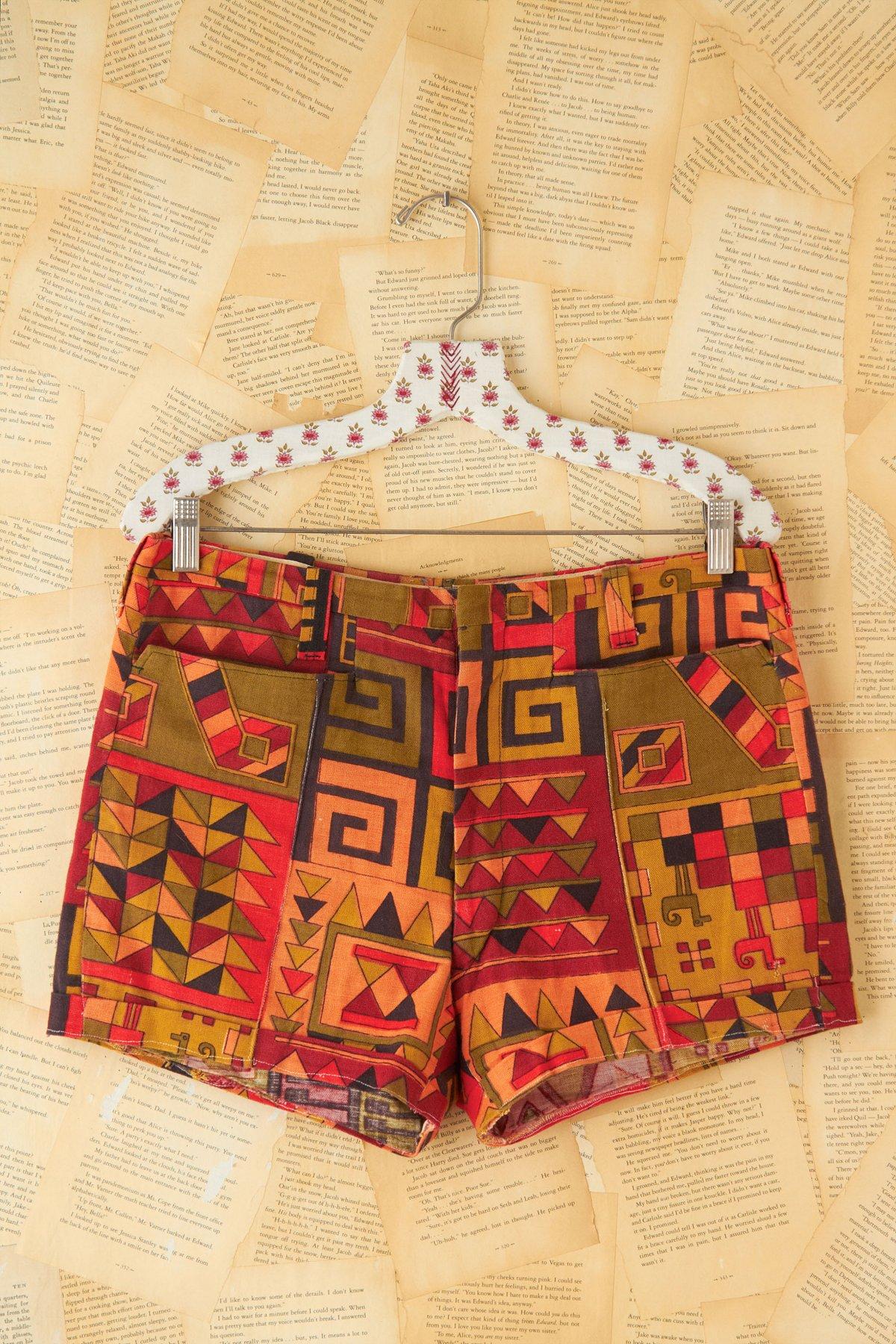 Vintage Printed Shorts
