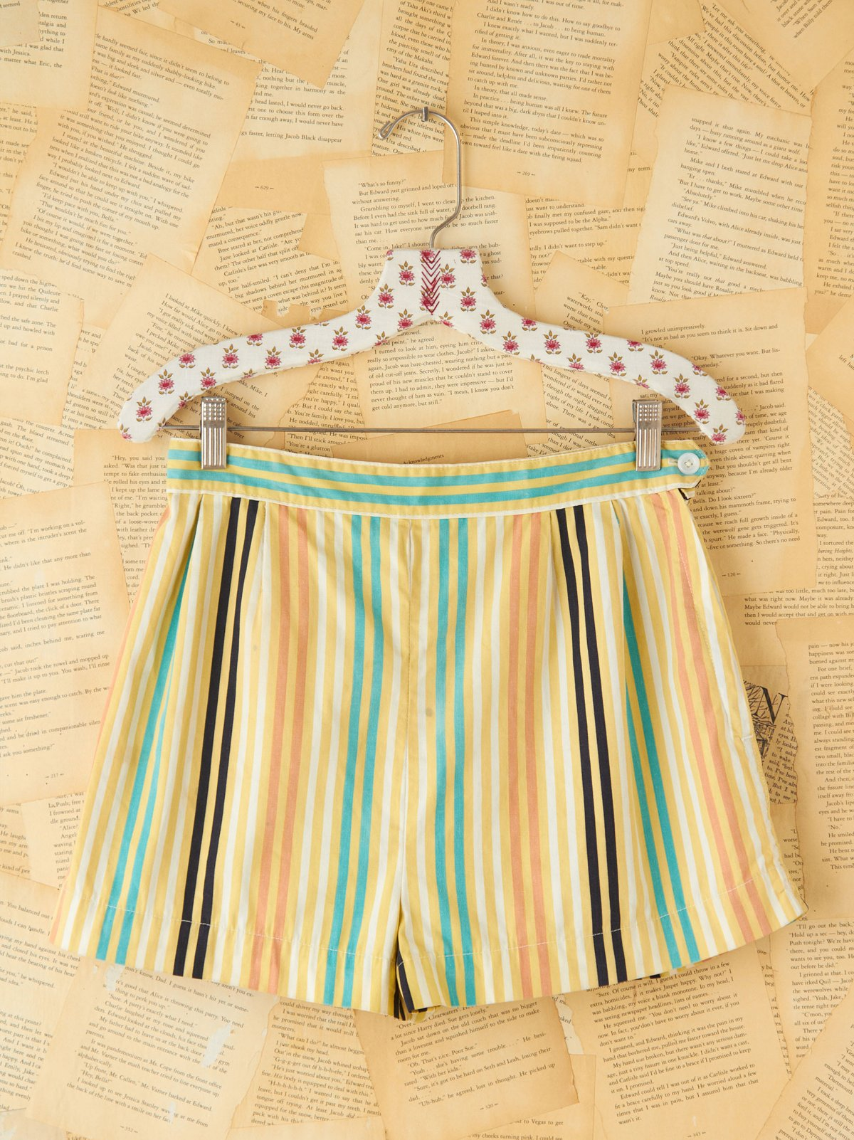 Vintage Colorful Striped Shorts