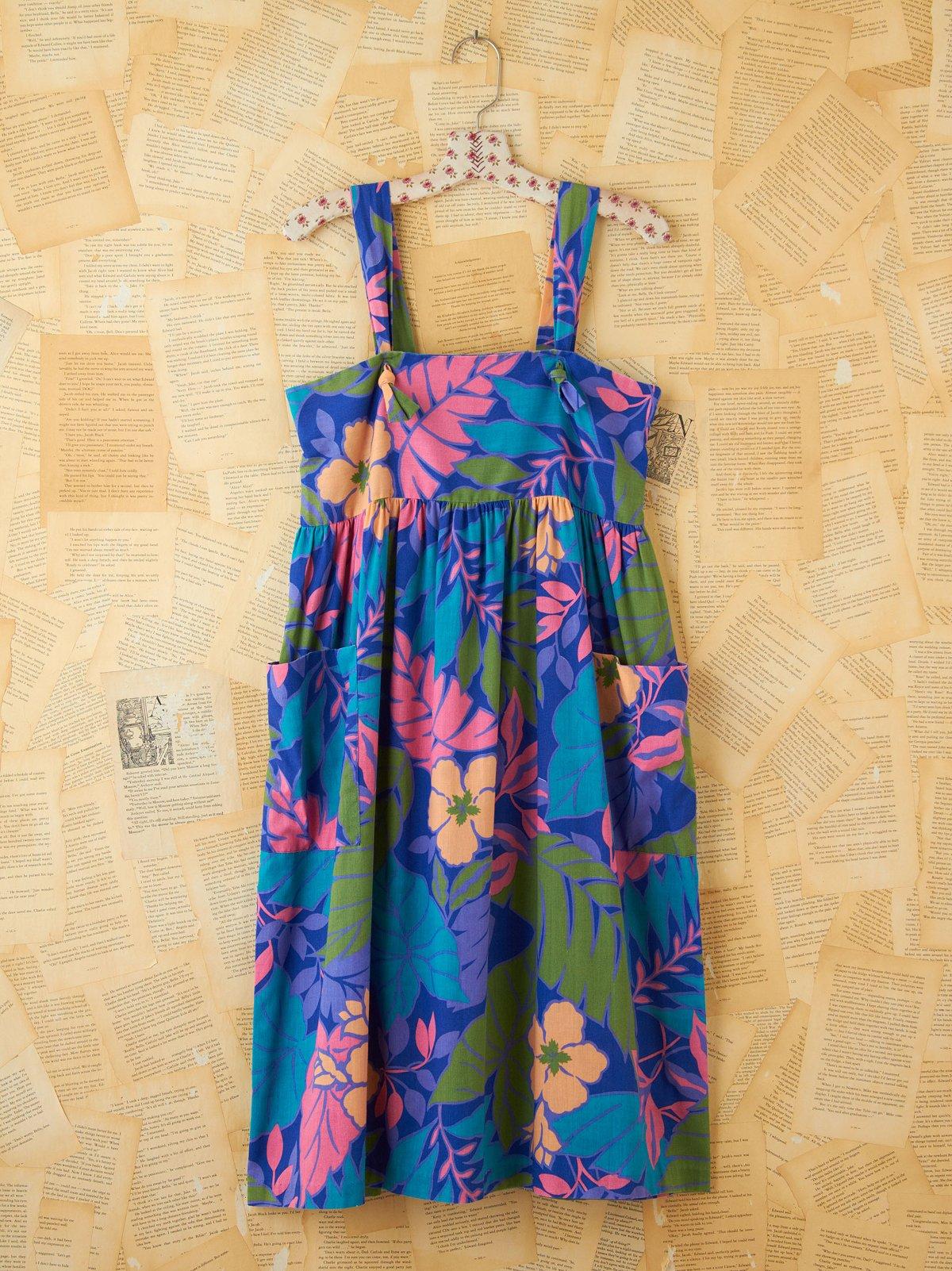 Vintage Aloha Floral Printed Sundress