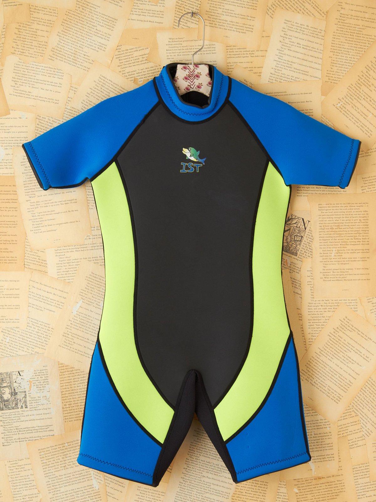 Vintage Neon Color Blocked Scuba Suit