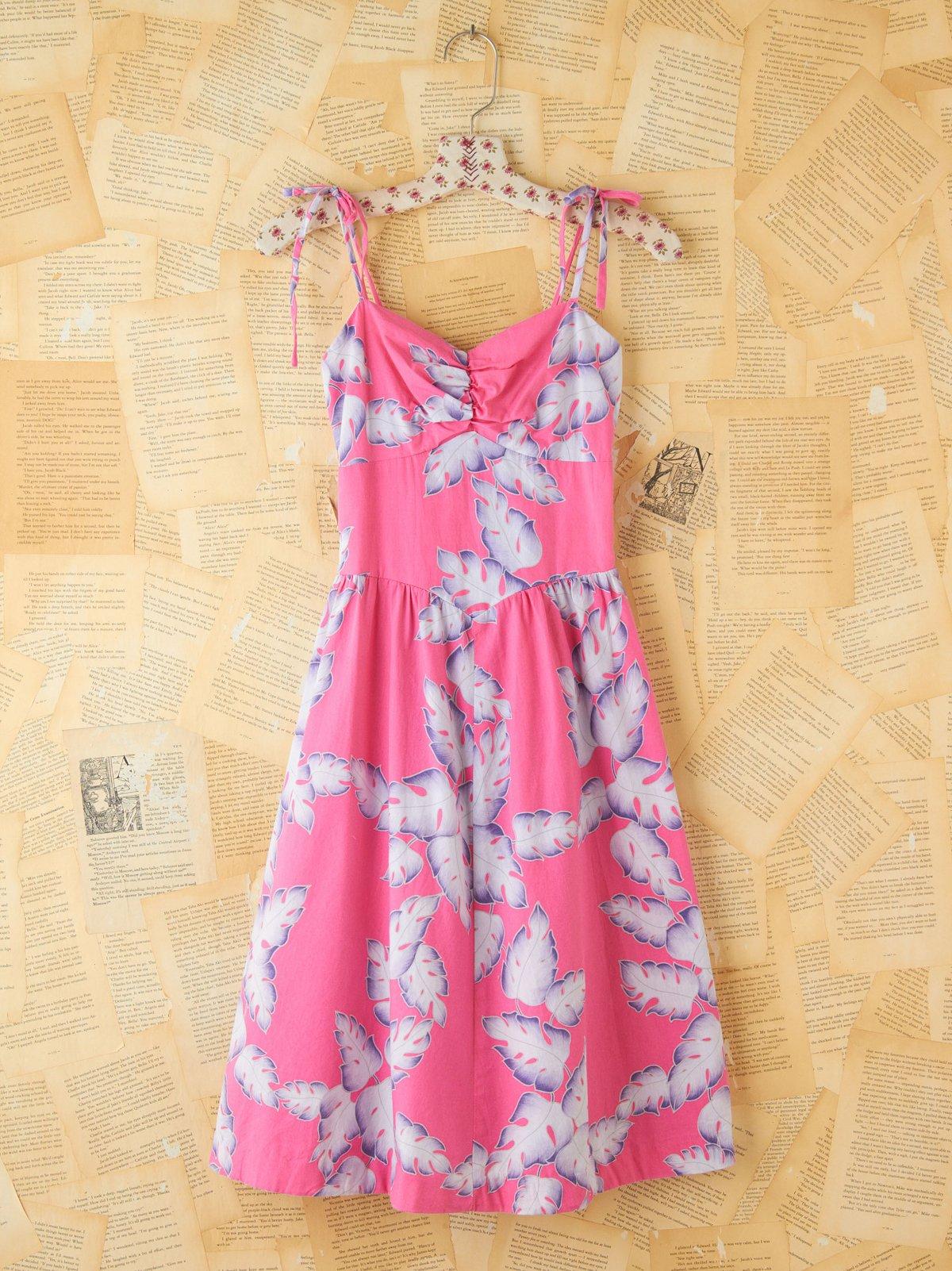 Vintage Tropical Printed Dress