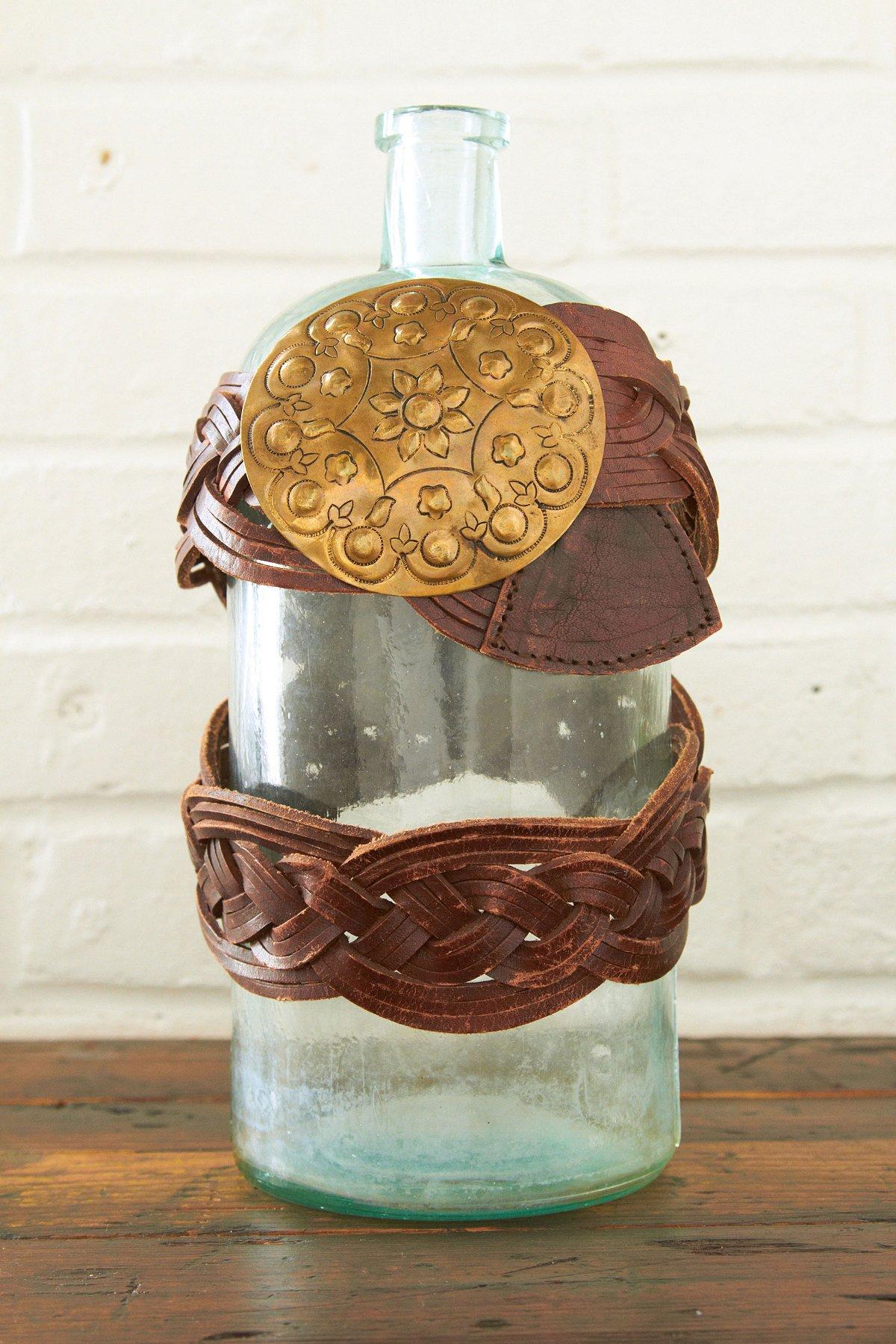 Vintage Morrocan Woven Leather Belt