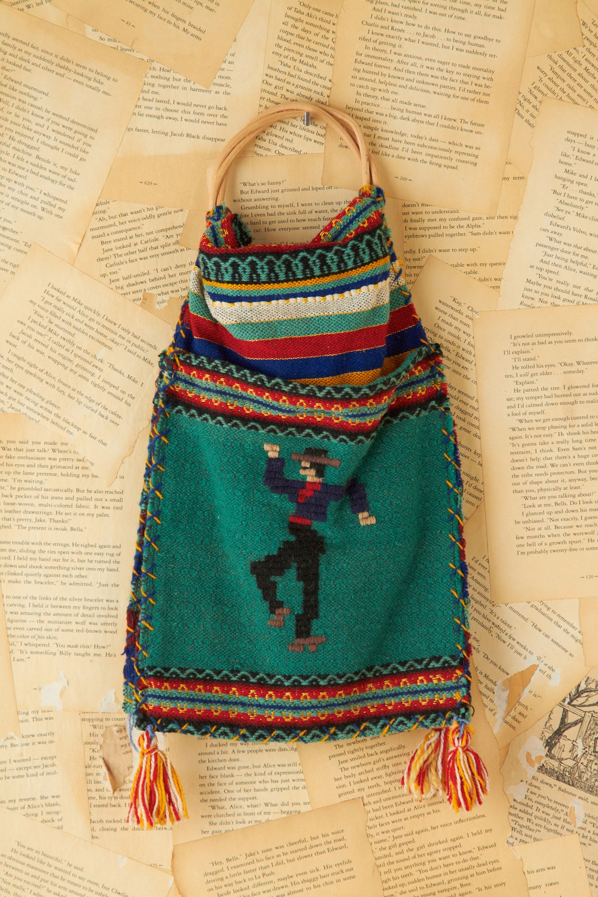 Vintage Woven Double Sided Bag