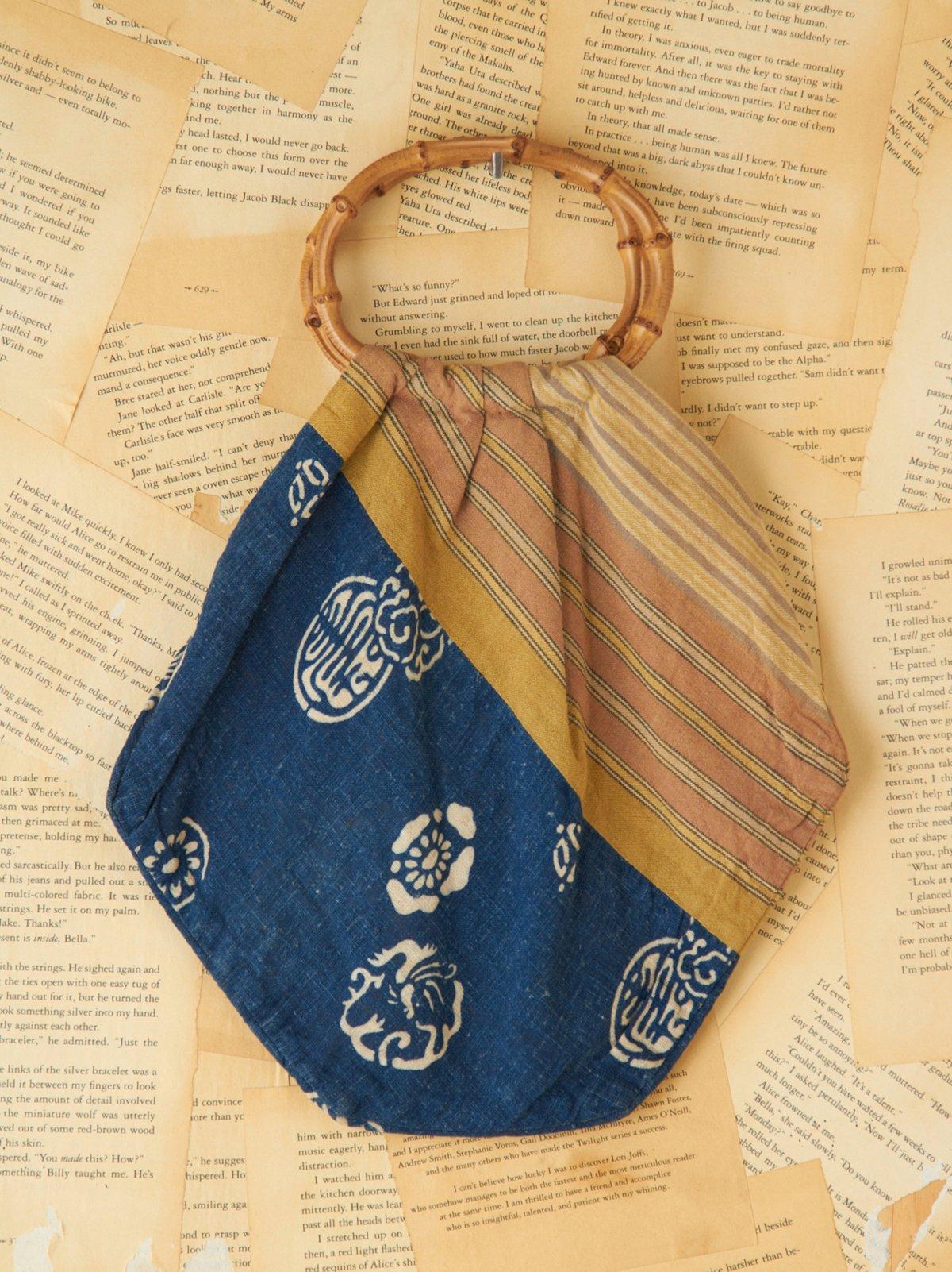 Vintage Japanese Printed Handbag