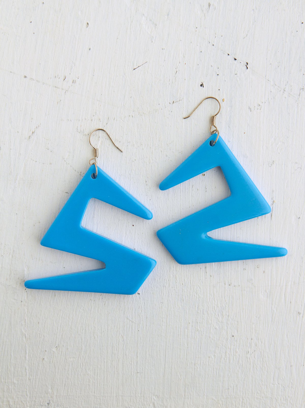 Vintage Blue Geometric Shaped Earrings