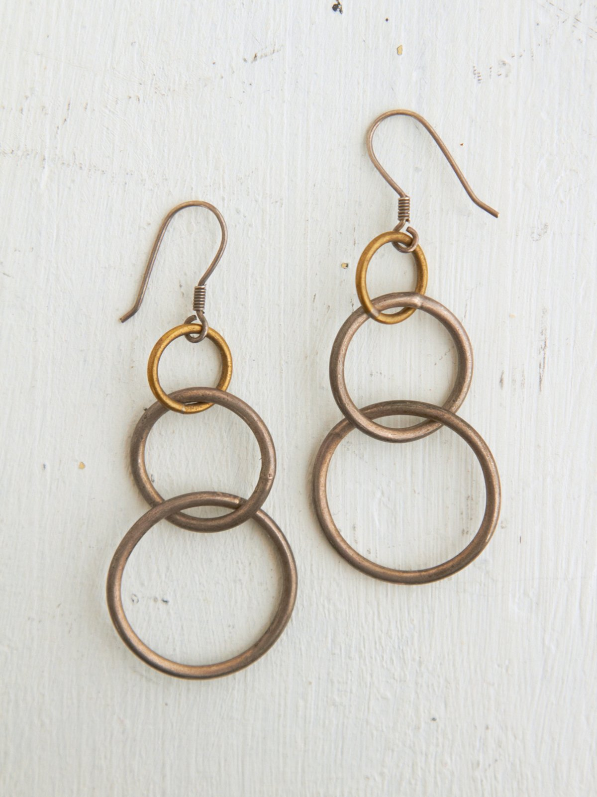 Vintage Silver Hooped Dangle Earrings