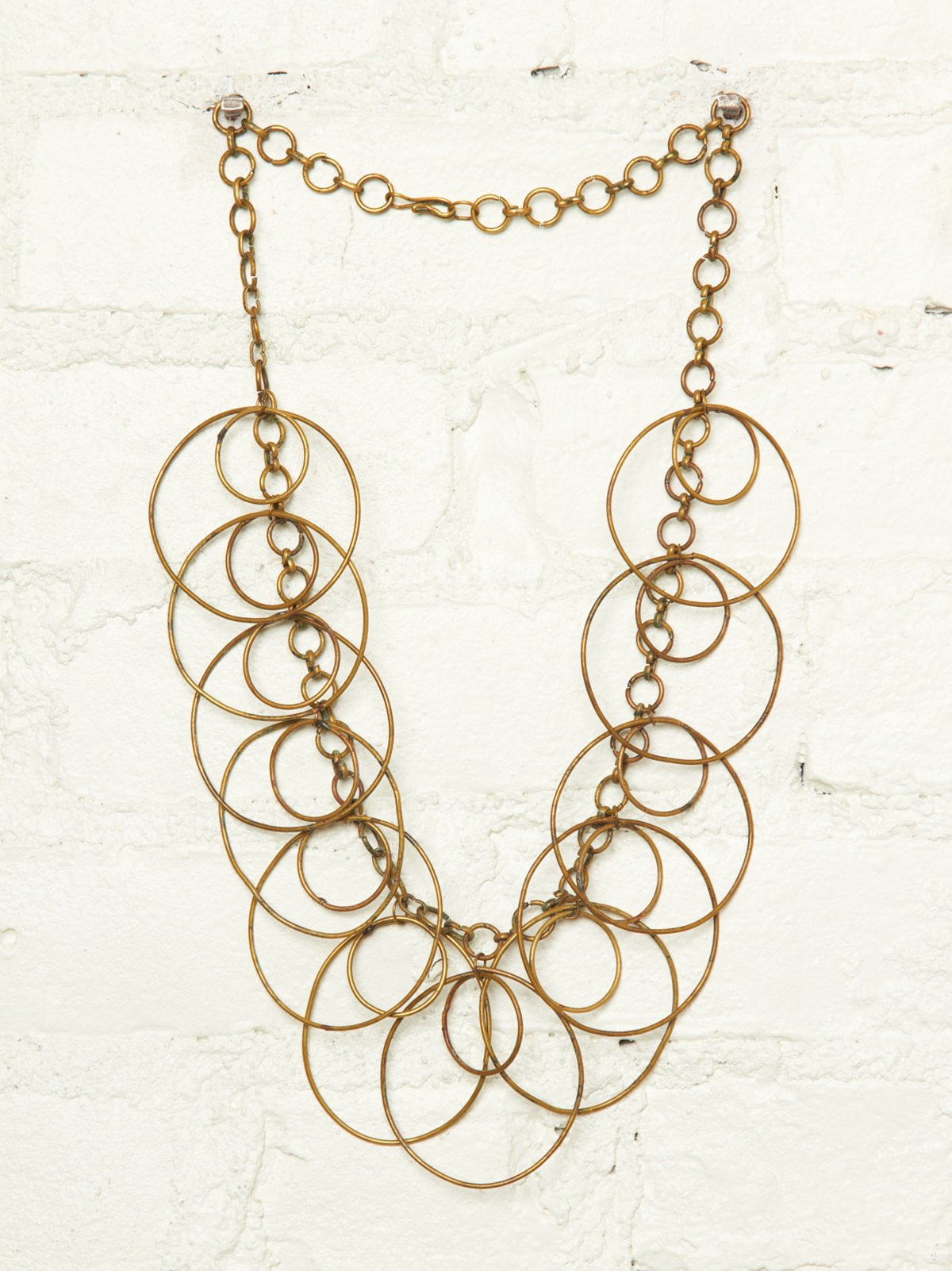 Vintage Hoop Chain Necklace