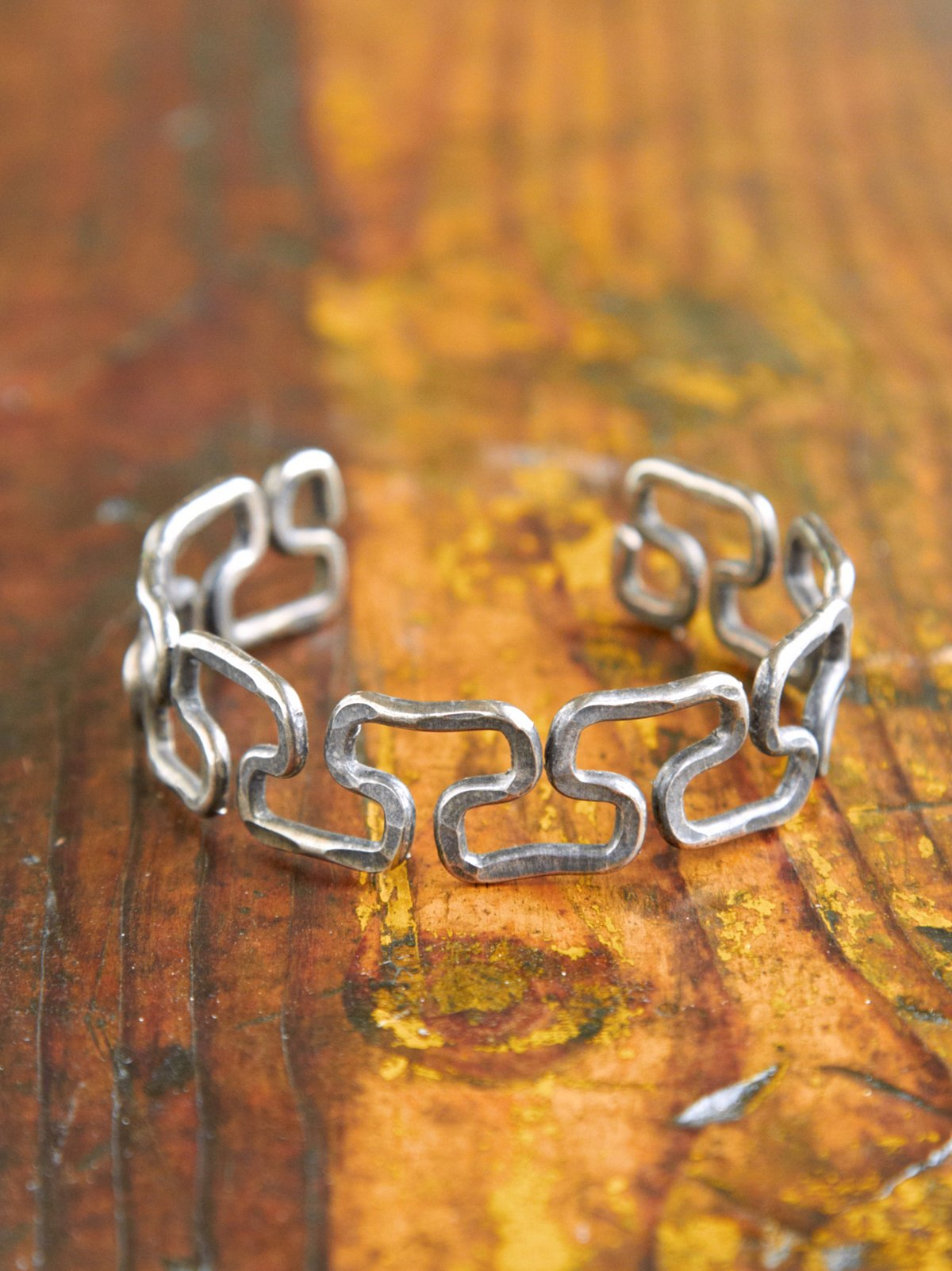 Vintage Pounded Metal Cuff