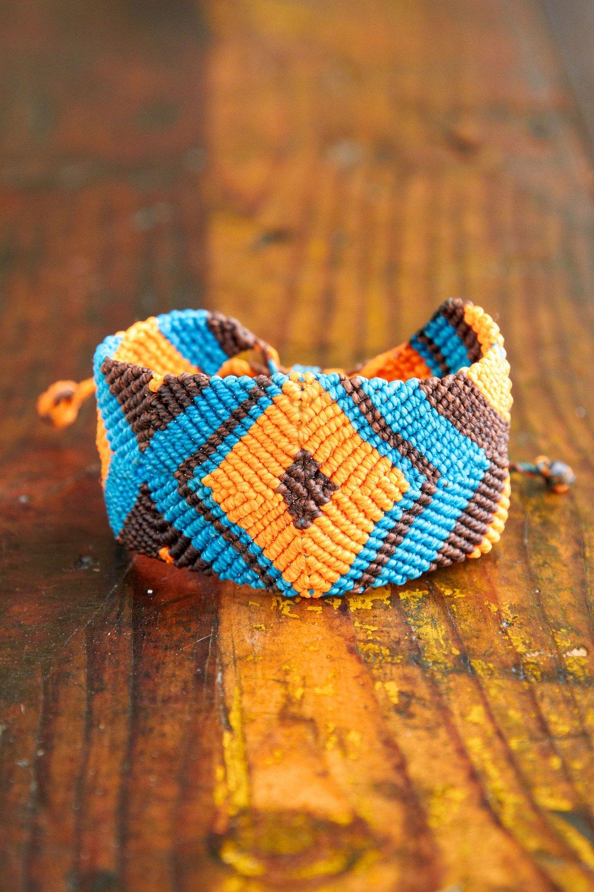 Vintage Multicolor Woven Friendship Bracelet