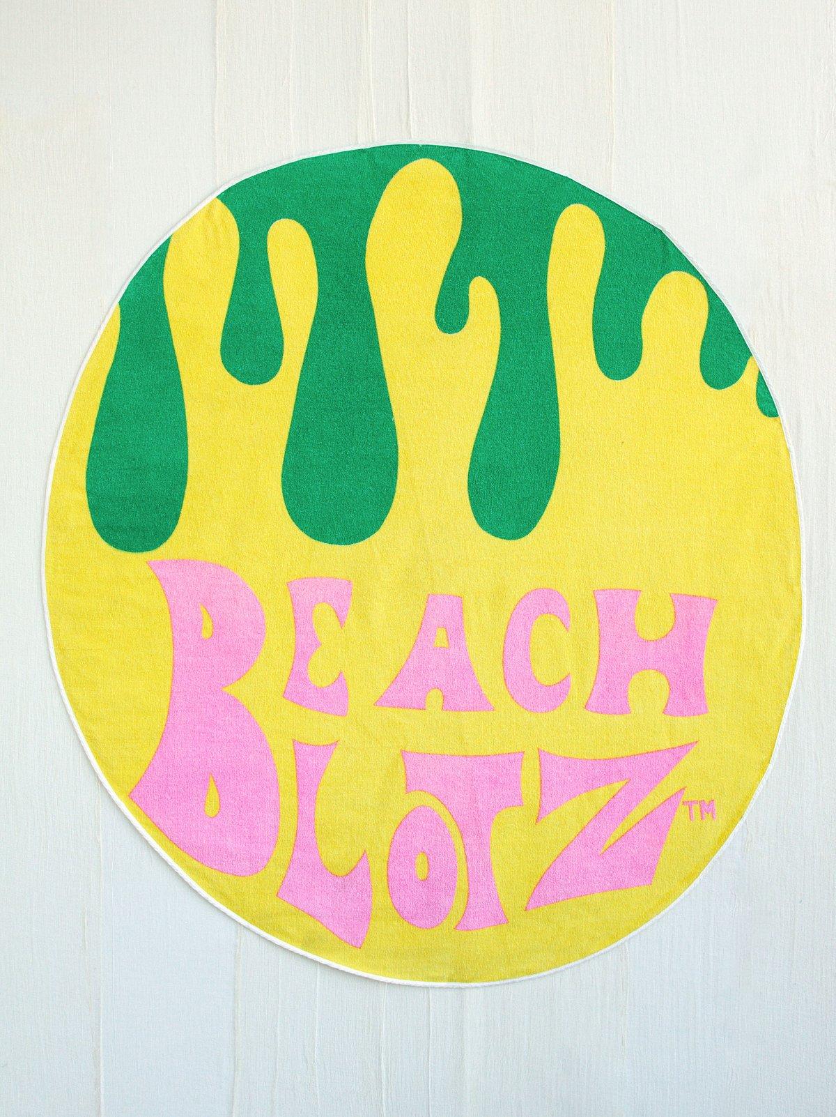 Vintage Colorful Circle Beach Towel