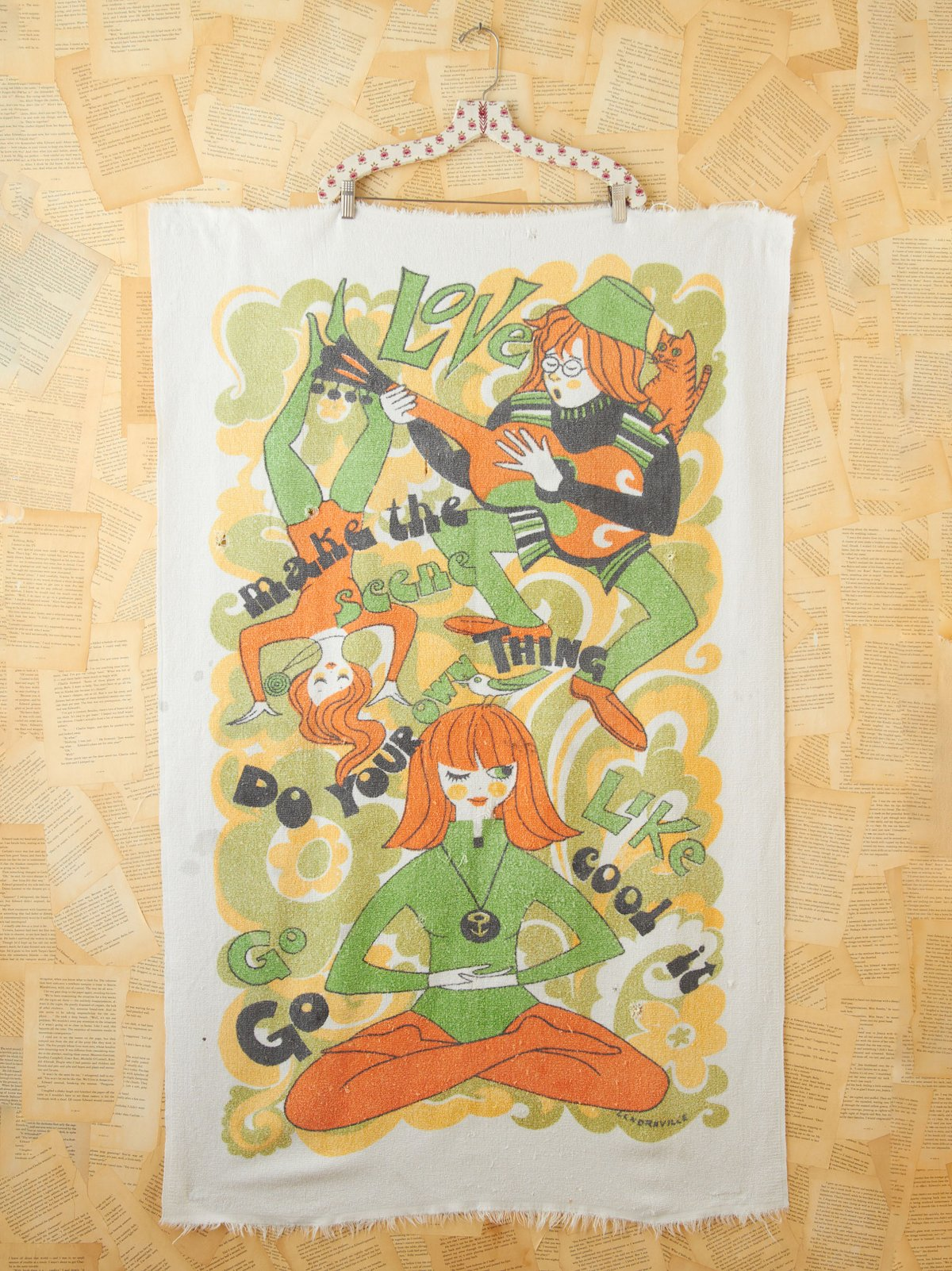 Vintage Printed Beach Towel