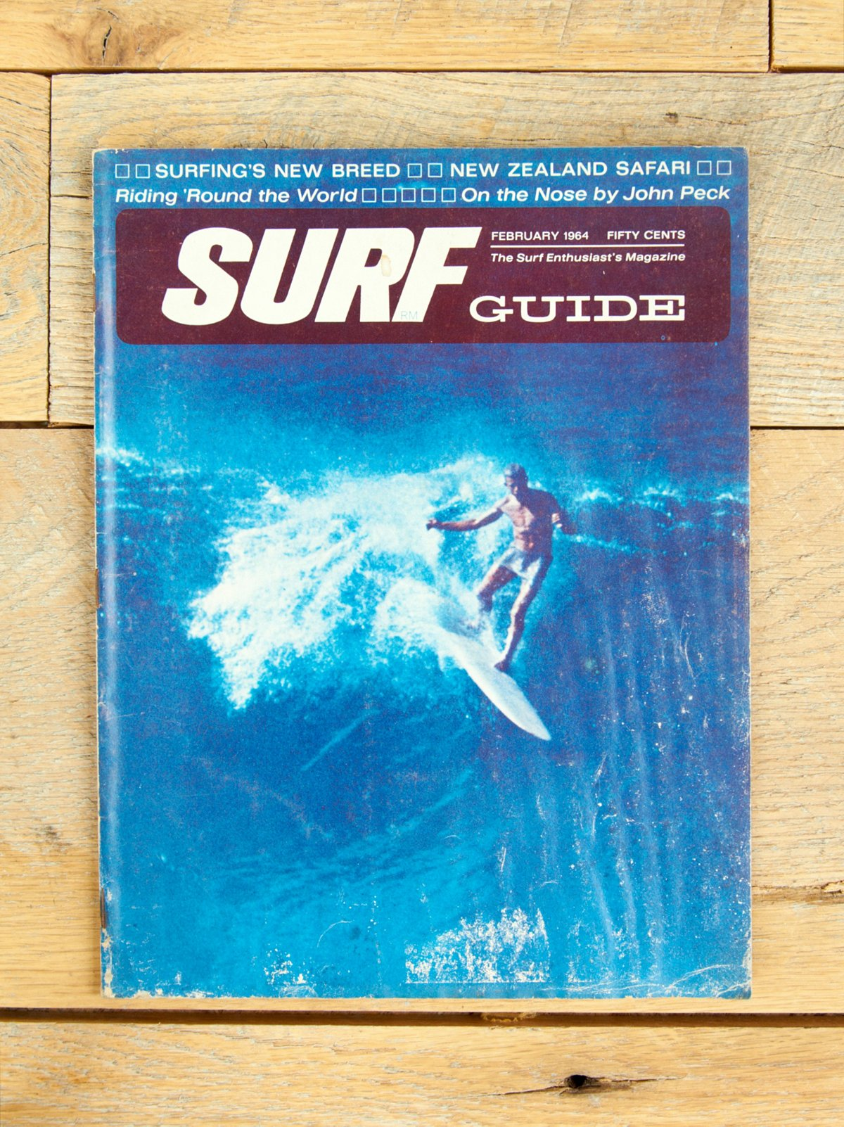 Vintage Surf Guide Magazine Feb. 1964 Issue