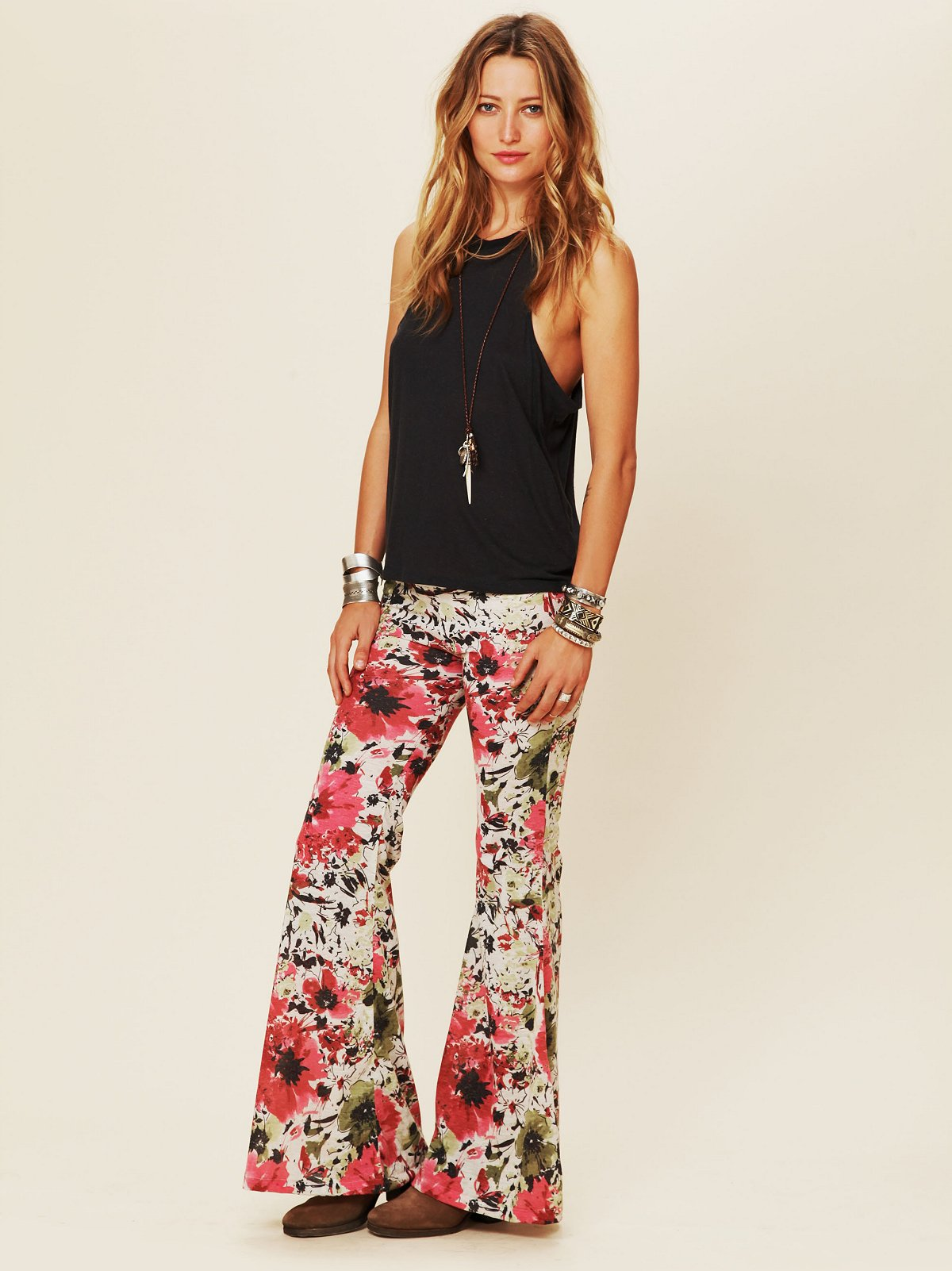 Floral Print Bell Bottom