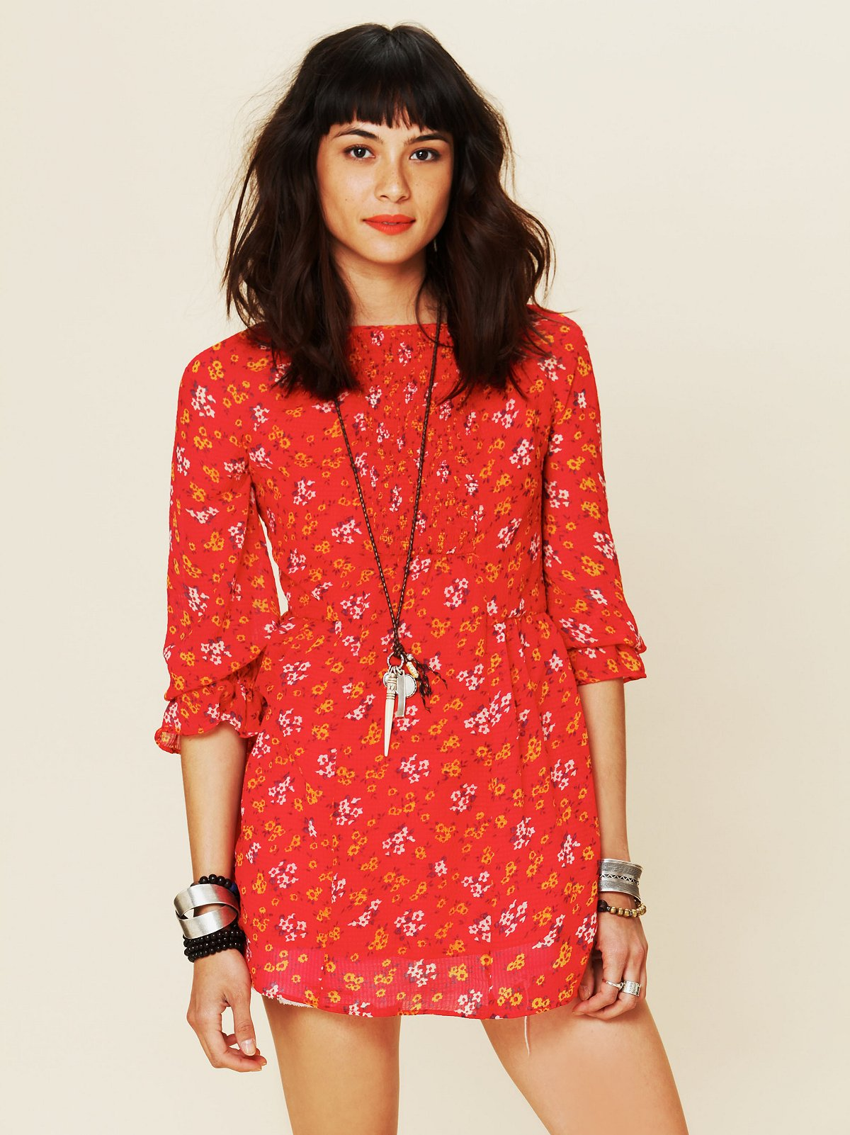Court Me With Flowers Tunic