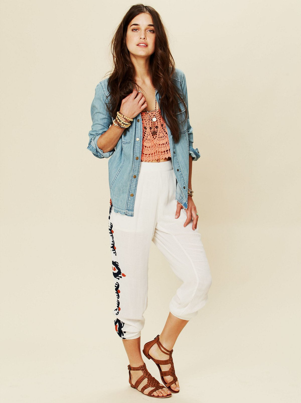 Cheap Trills Embroidered Pant