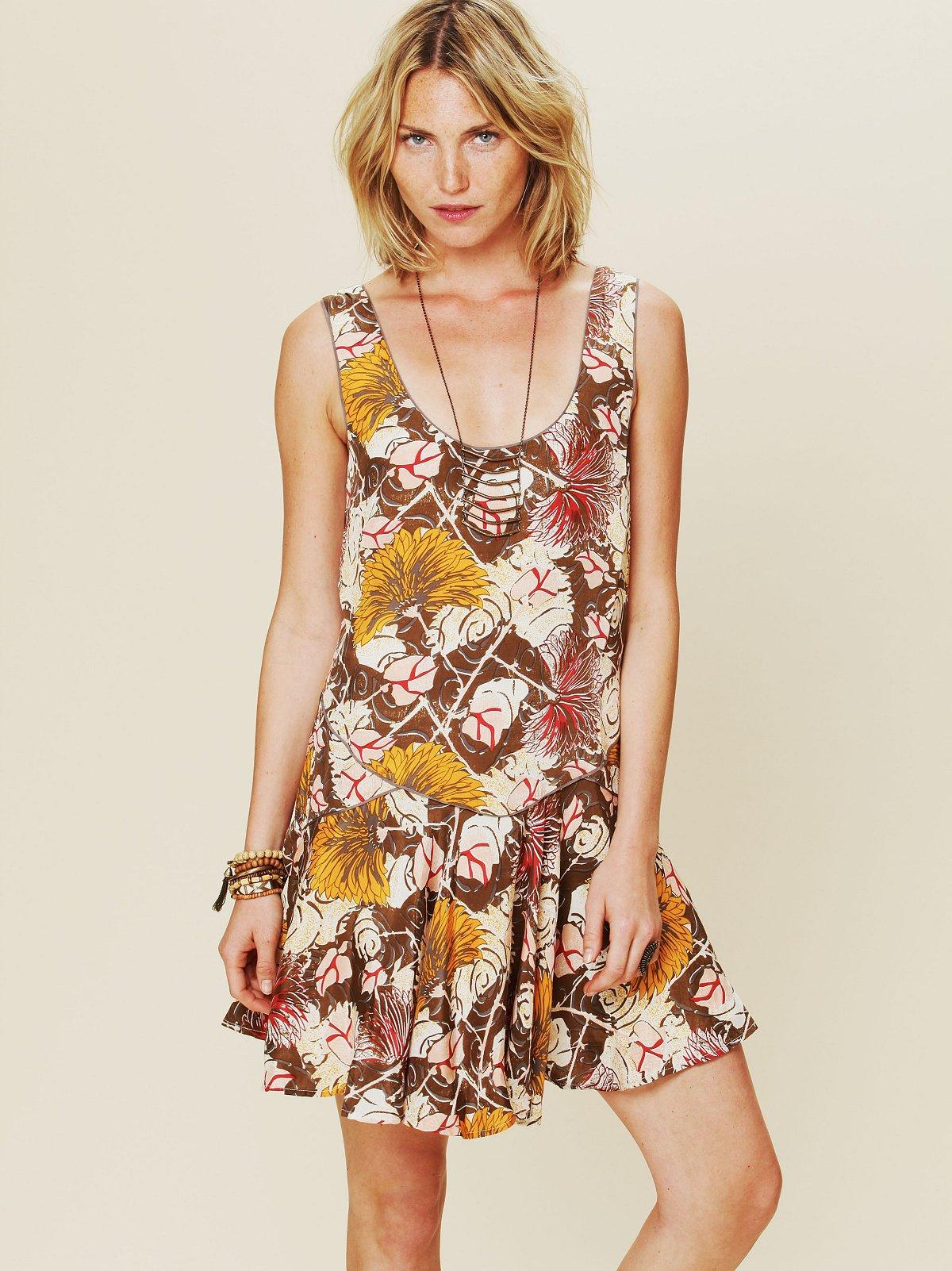 Printed Dropwaist Shapeless Dress