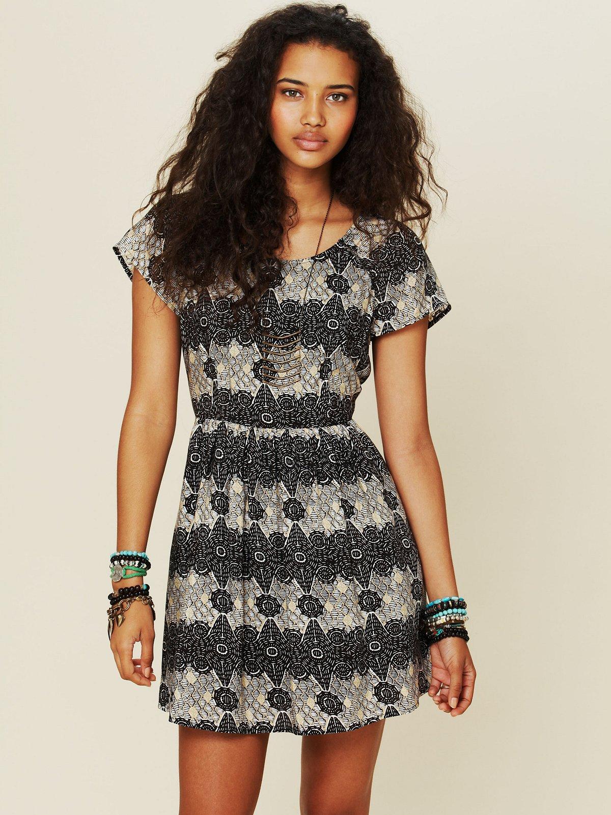 Printed House Dress