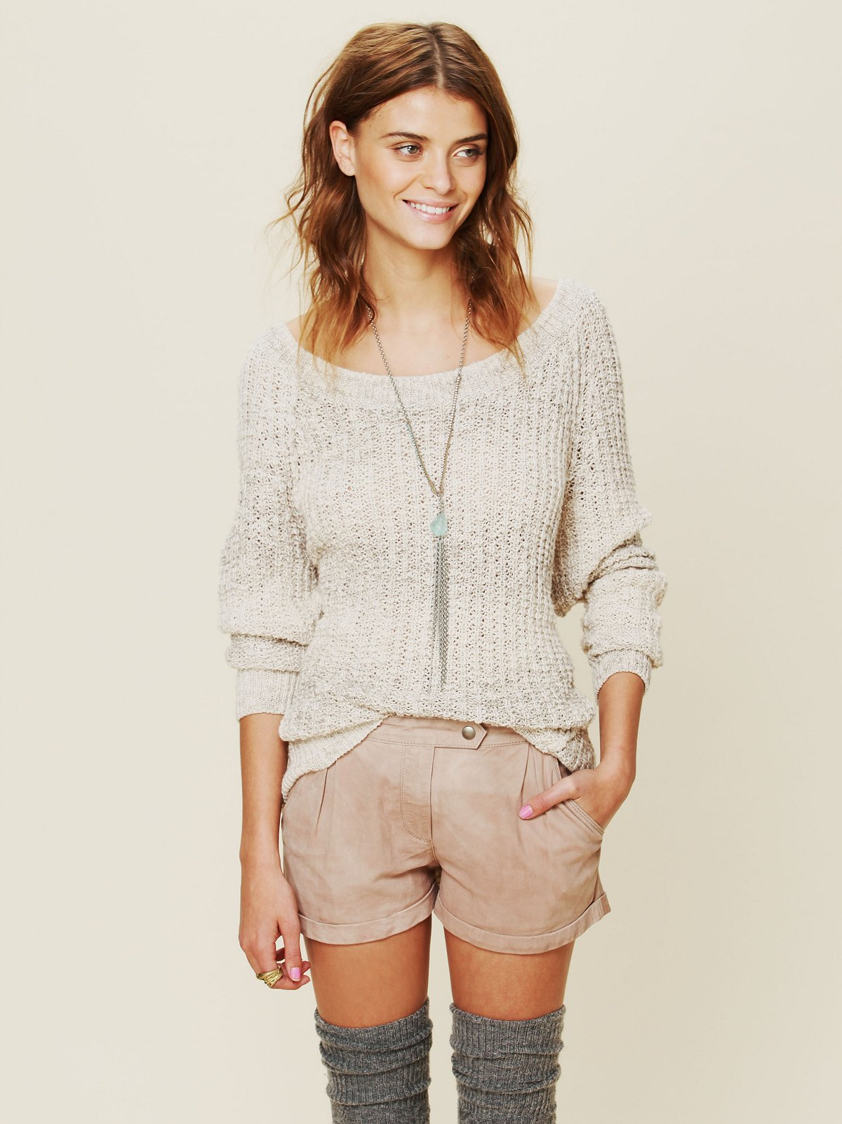 High Waisted Suede Short