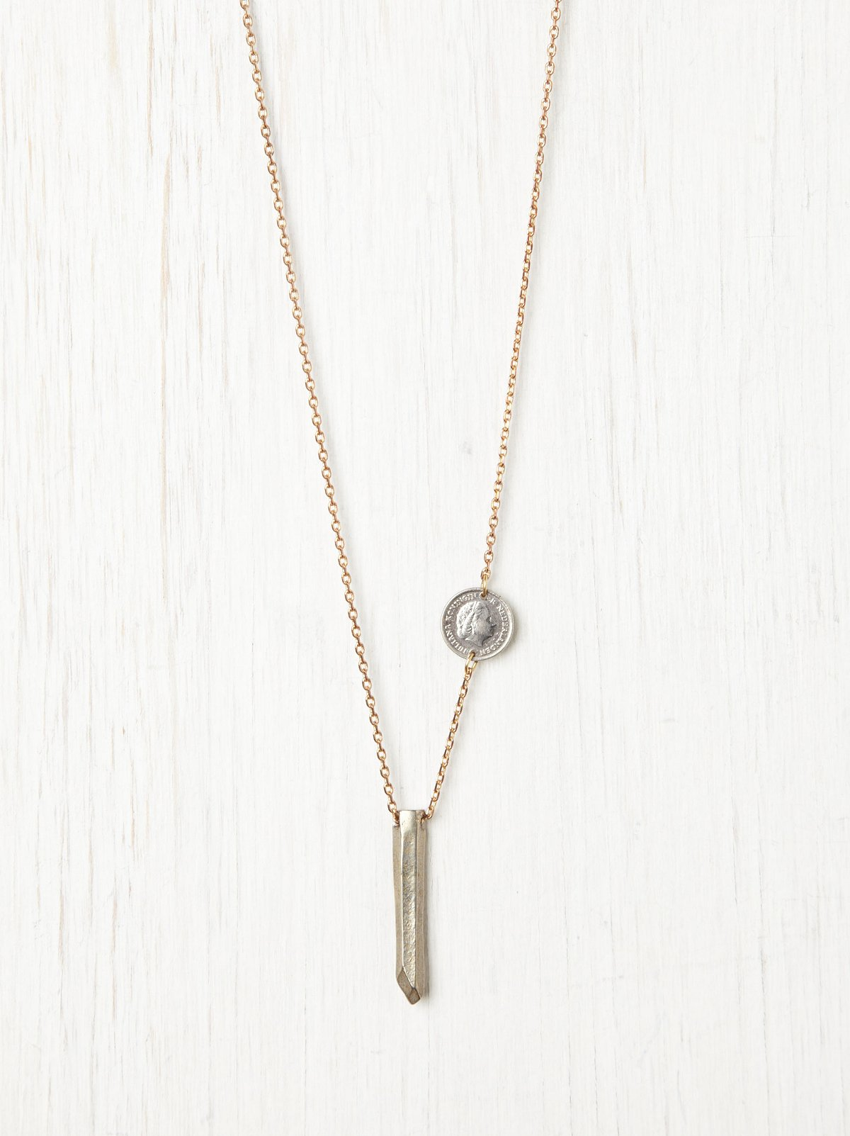 Coin and Peg Pendant