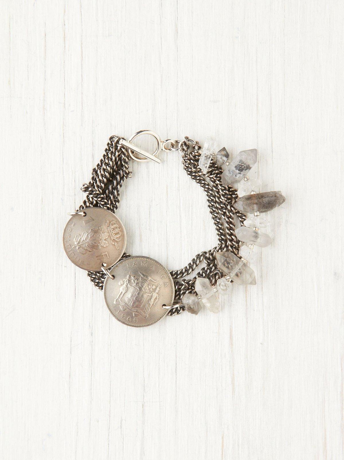 Coin  Crystal Bracelet