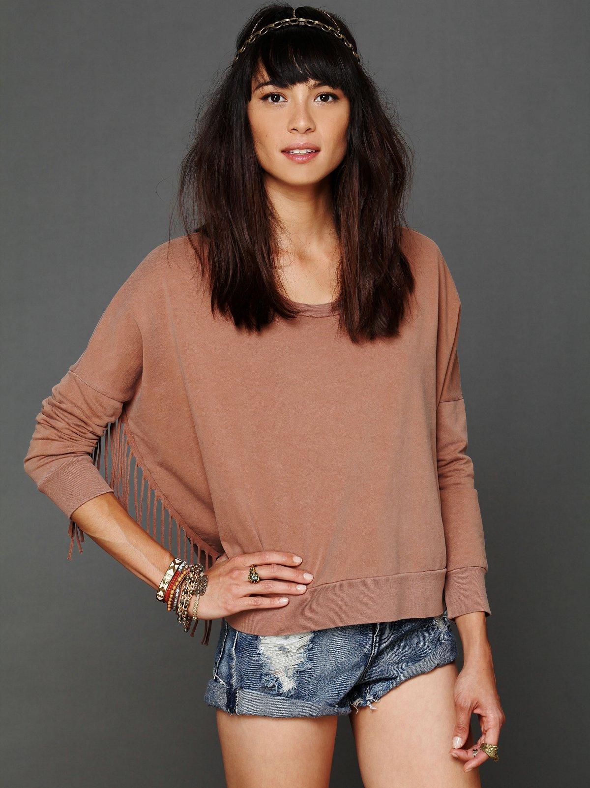Jade Fringe Pullover