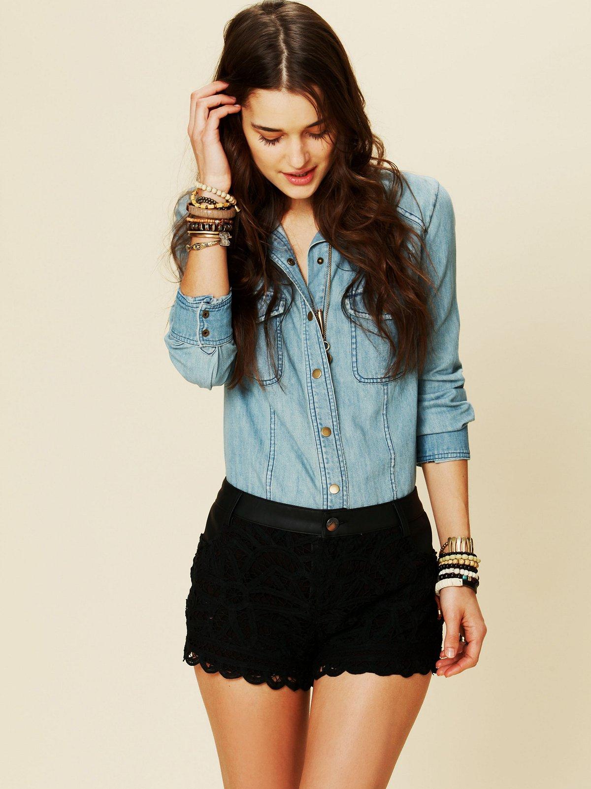 Battenburg Lace Shorts