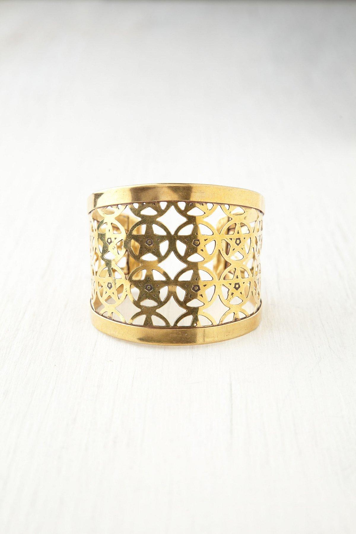 Diega Brass Cuff