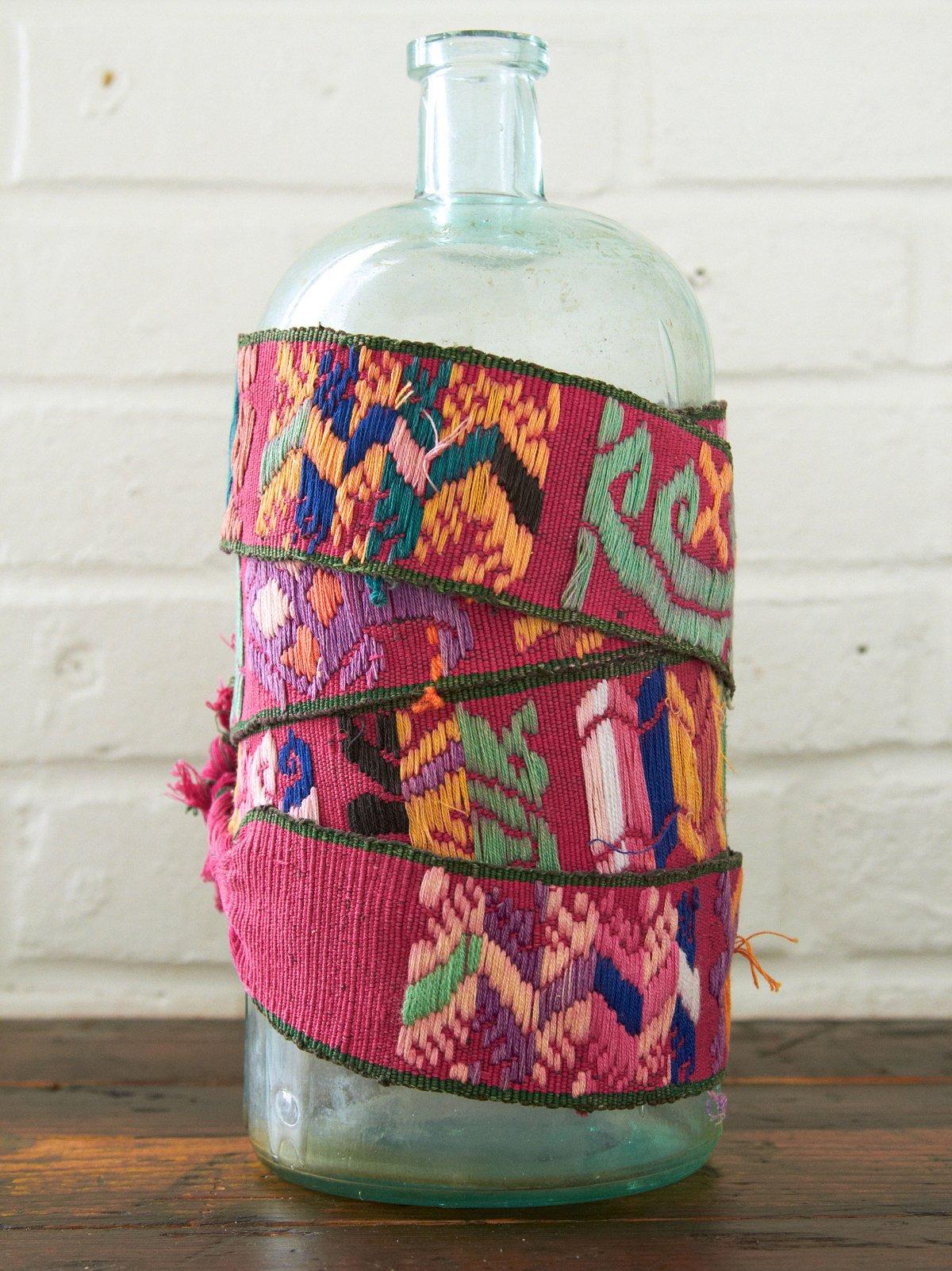 Vintage Colorful Woven Wrap Belt