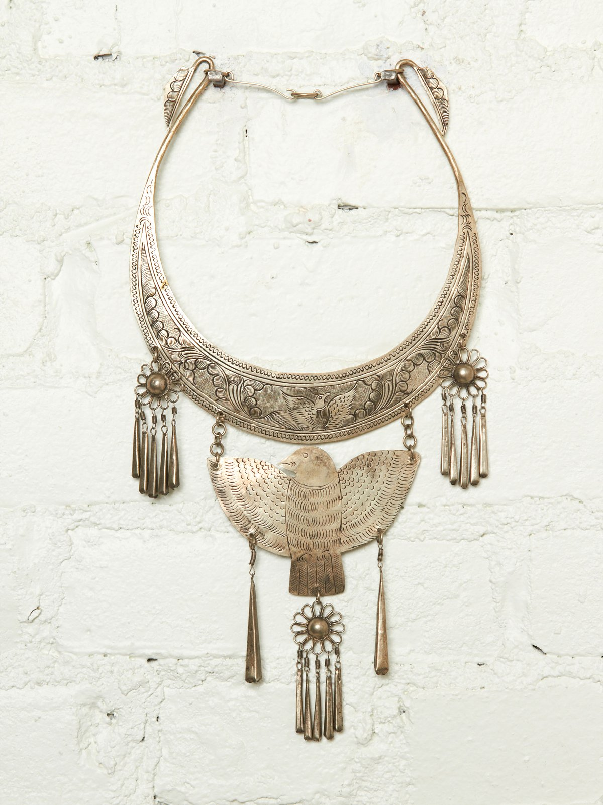 Vintage Bird Bib Necklace