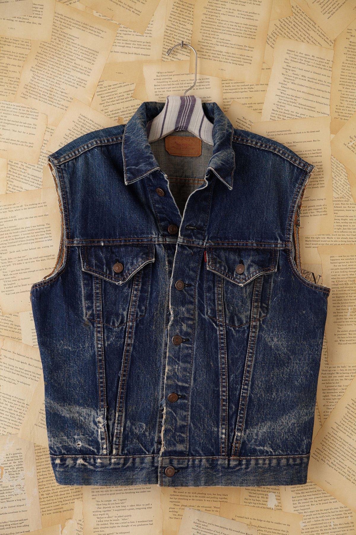 Vintage Distressed Denim Vest