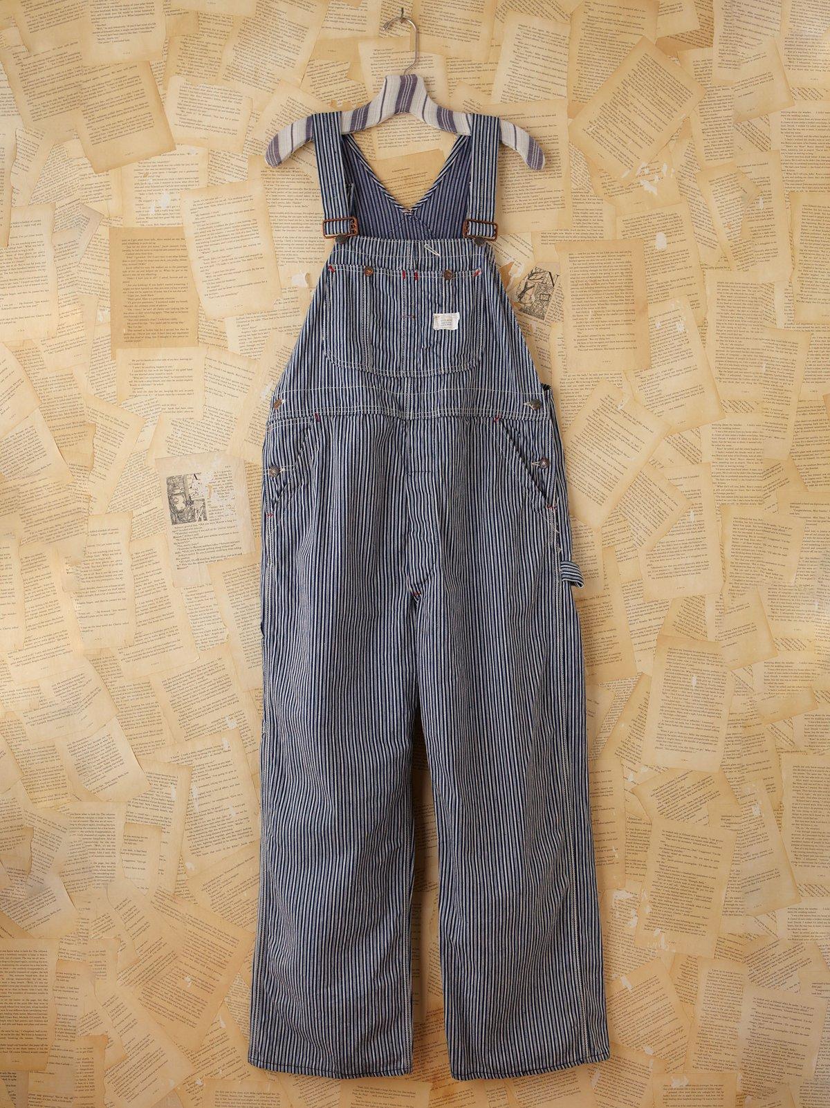 Vintage Pinstripe Overalls
