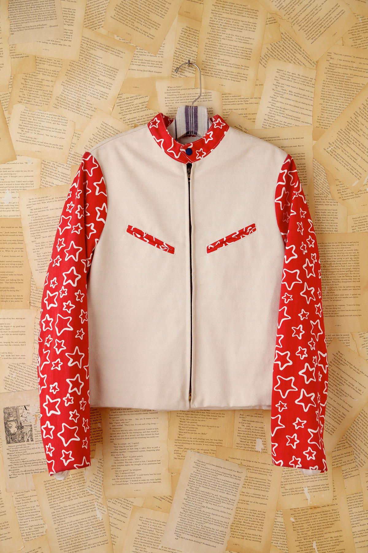 Vintage Star Printed Denim Jacket